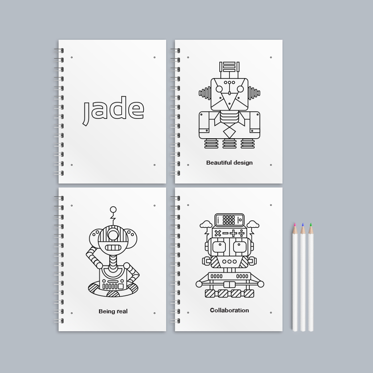 JADE — Colouring Book Design & Illustration