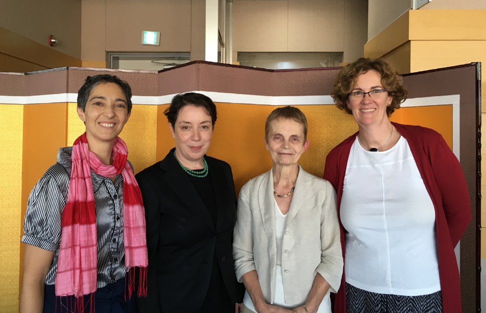 L to R: Attending the Council meeting of the IACL at the Xth World Congress of Constitutional Law, Seoul, 2018: Secretary of the AACL Elisa Arcioni, President of the IACL Adrienne Stone, Former President of the IACL Cheryl Saunders, Treasurer of the AACL Kathryn Graham