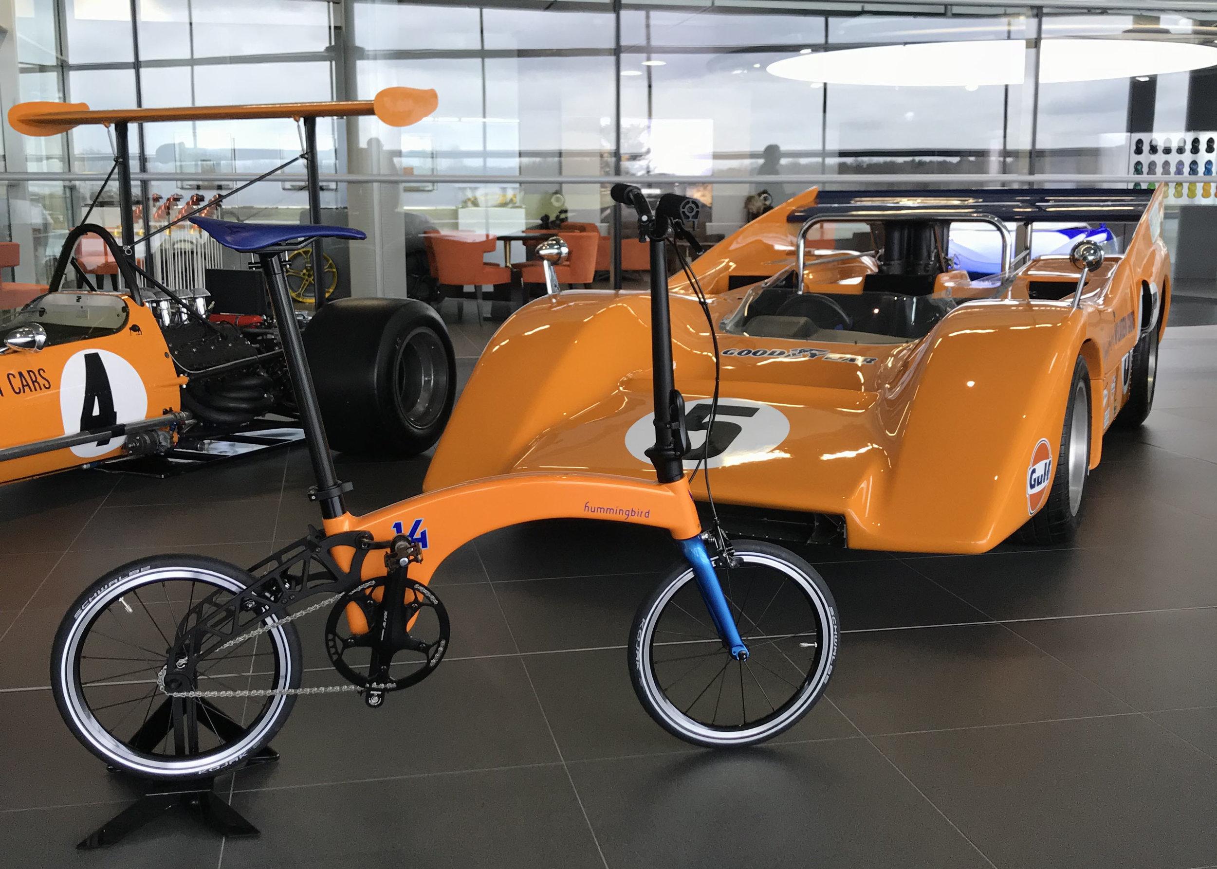 Bespoke Hummingbird for Fernando Alonso in McLaren's iconic orange paint.