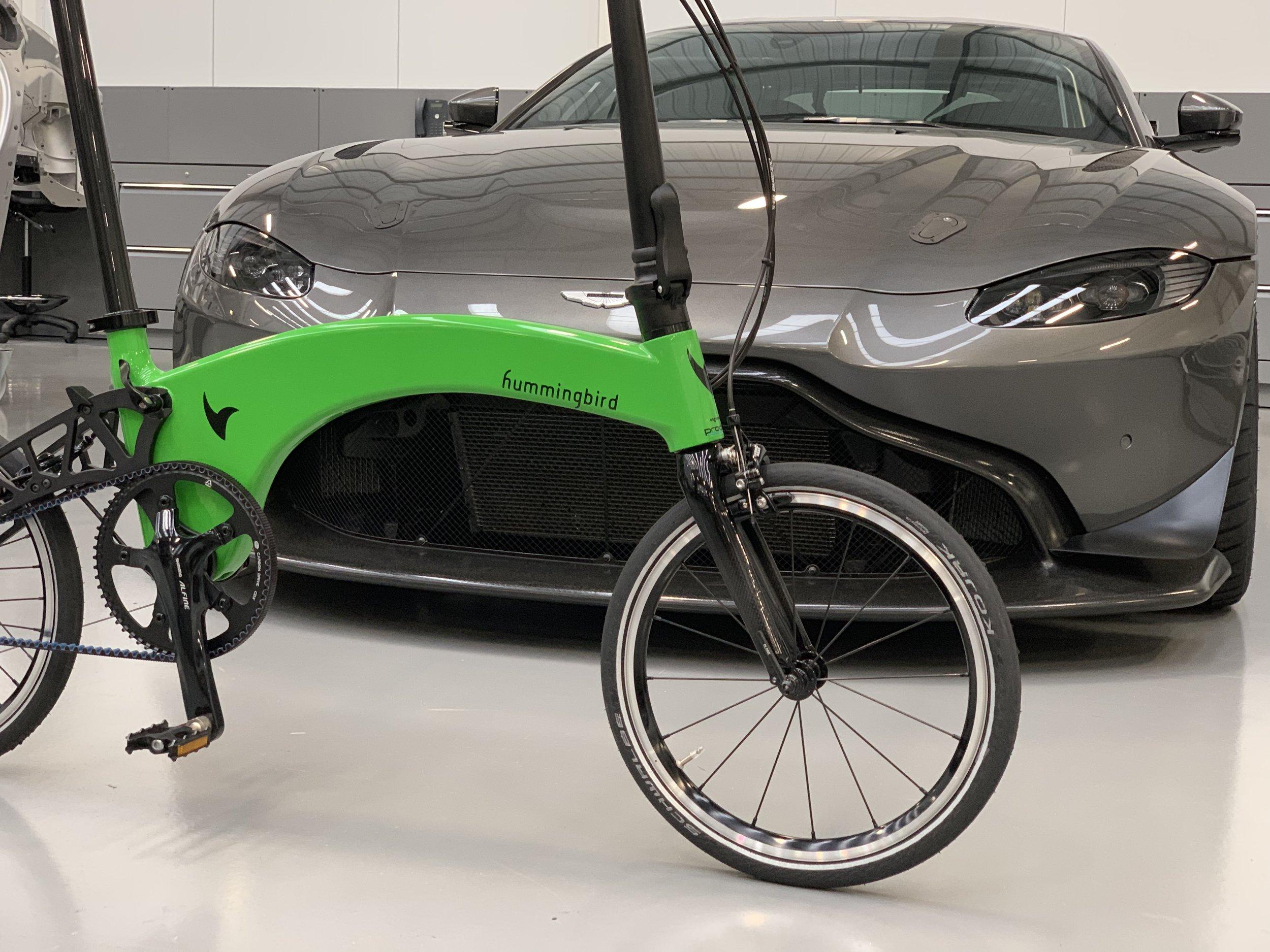 Hummingbird Belt drive In Kermit Green to match Aston Martin Vantage 2019