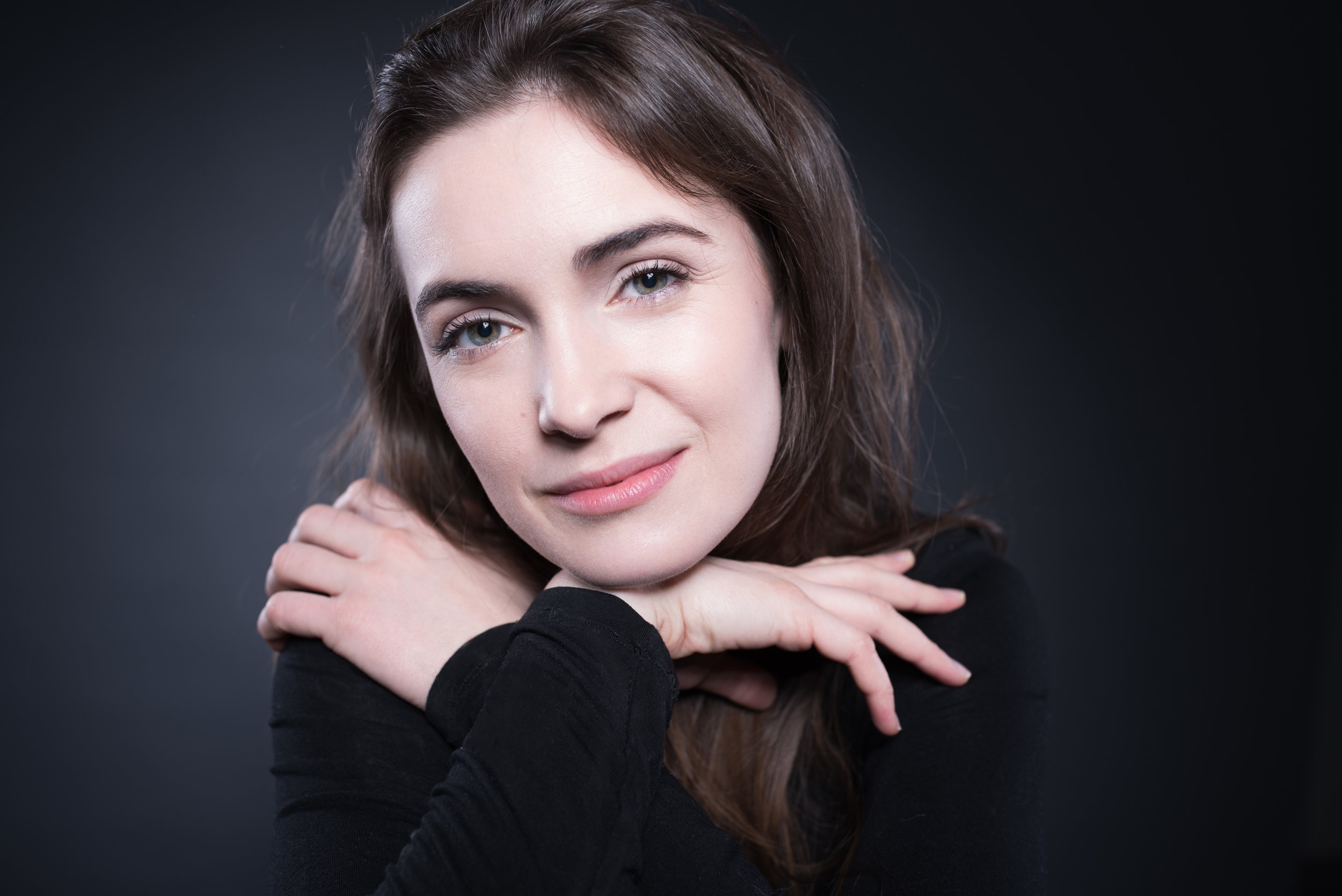 Professional headshot of aspiring actress Sarah Haváčová made by Tatiana Shalunova Headshots Prague.jpg