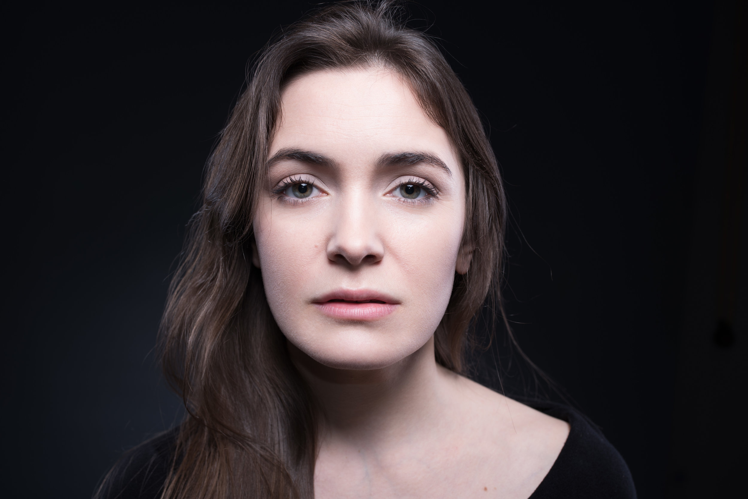 Dramaic headshot of a young actress Sarah Haváčová made by Tatiana Shalunova Headshots Prague.jpg