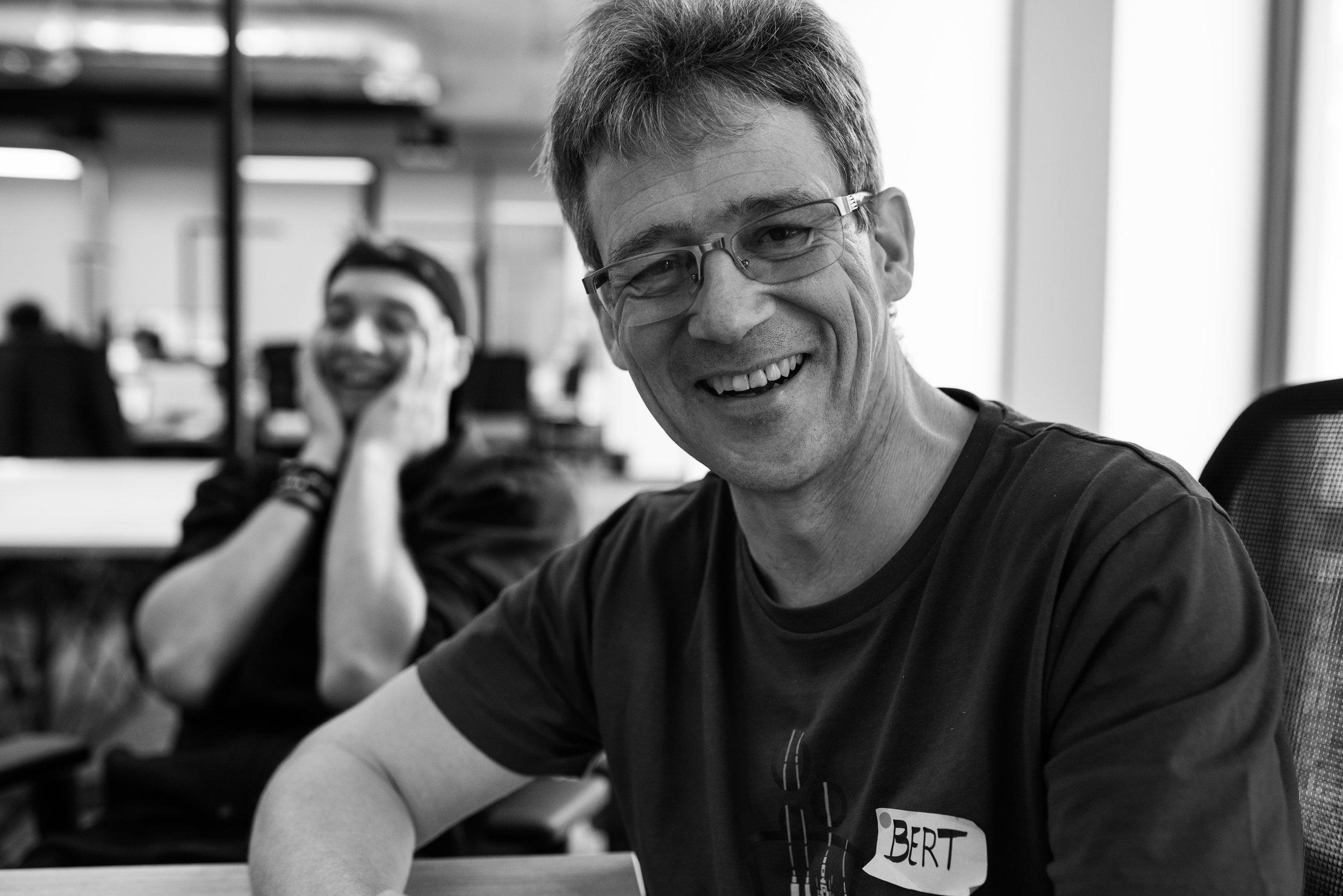 Photo of two team members taken during Startup Weekend in Prague by Tatiana Shalunova.jpg