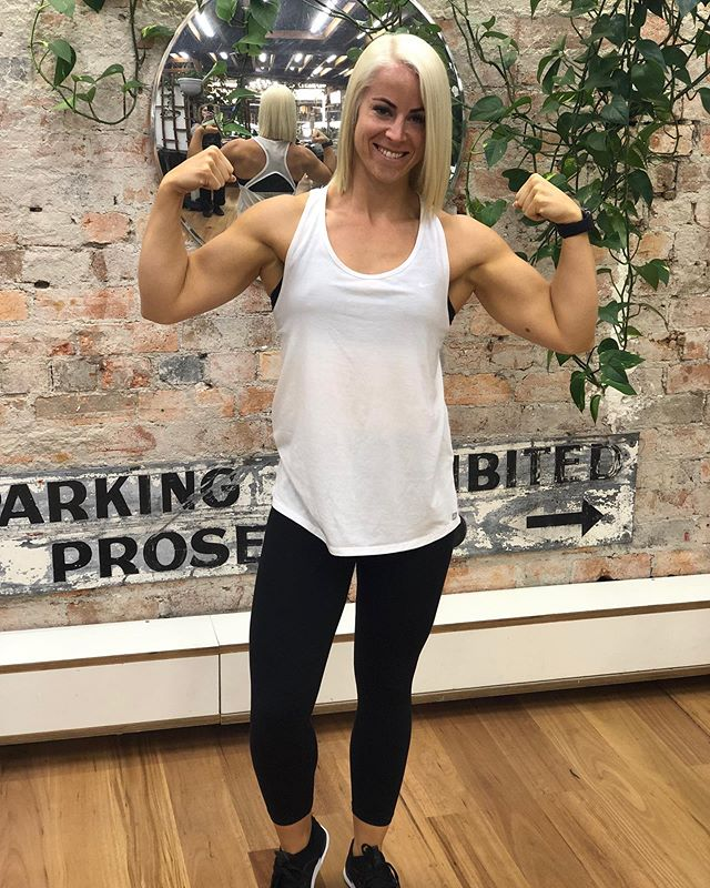 Good luck to our very strong, determinated and inspirational client this weekend at WBFF Sydney. 💪👙 @sof_louise  #wbff #wbffsyd19 #Stopitilikeit