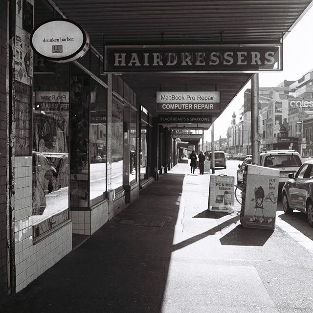 We are here. From 9am-5pm this Saturday. #drunkenbarber #barbershop #barbershopconnect #haveanicelife #fitzroy #melbourne #mediumformat #rolleiflex