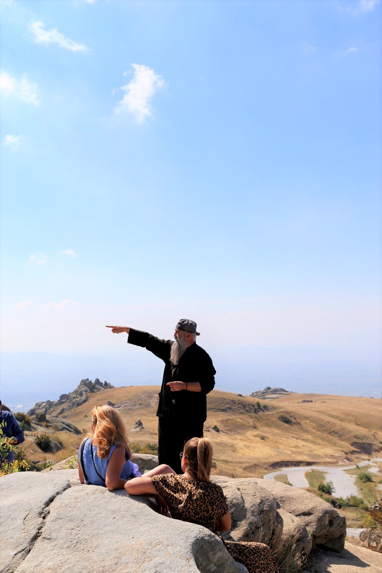 Father Kalist at Treskavec, the monastery in the clouds.