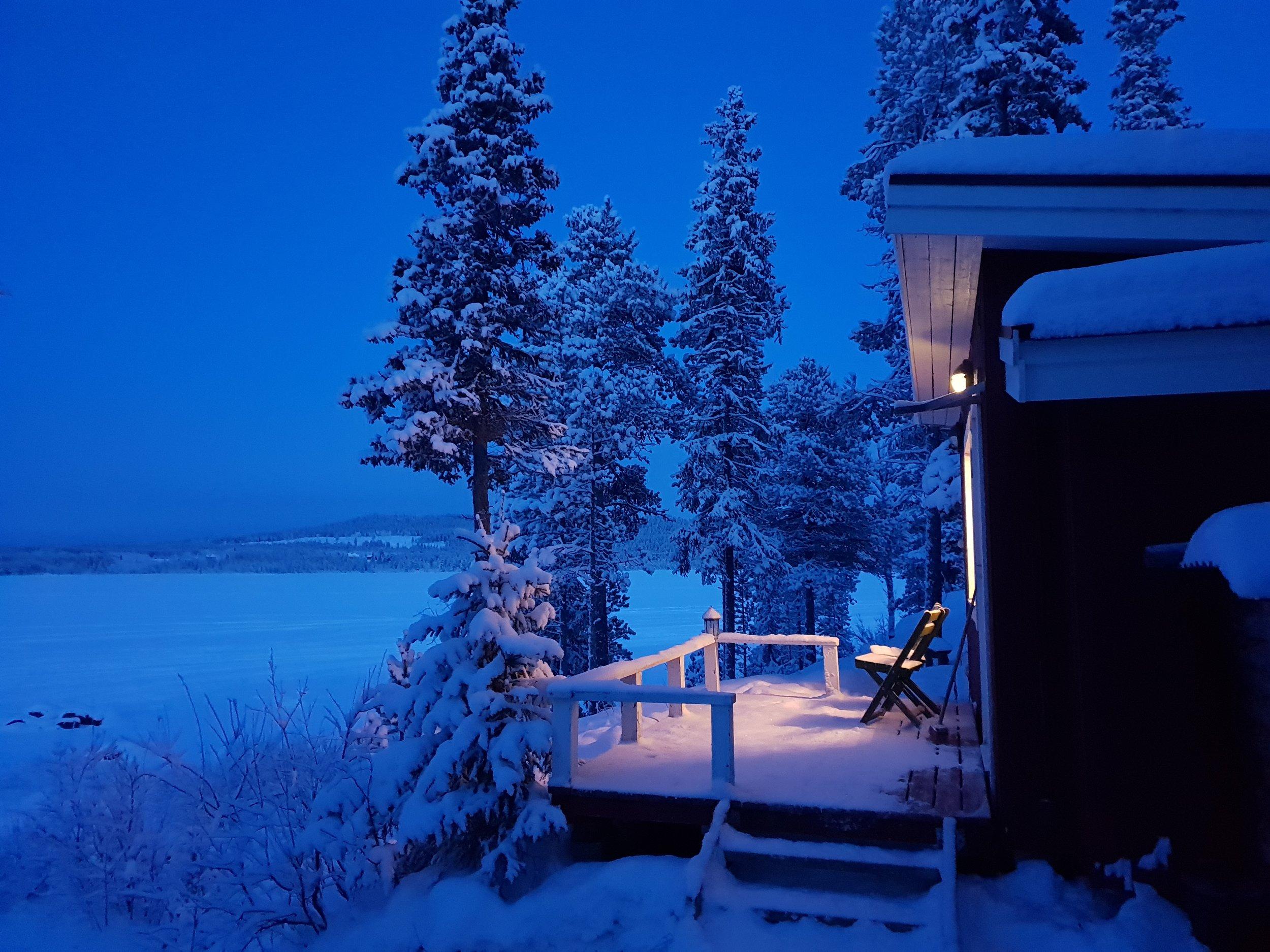 Aurora Camp at night.