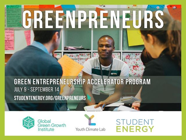 Calling all #youth! If you have a green growth idea, we want to make it happen. #Greenpreneurs, a 10-week virtual accelerator program and global business competition will take you from idea to business plan, and give you the opportunity to compete for seed funding, internships, and conference bursaries 📷🌏 Apply before June 29 for your chance to participate! Link in Bio!
