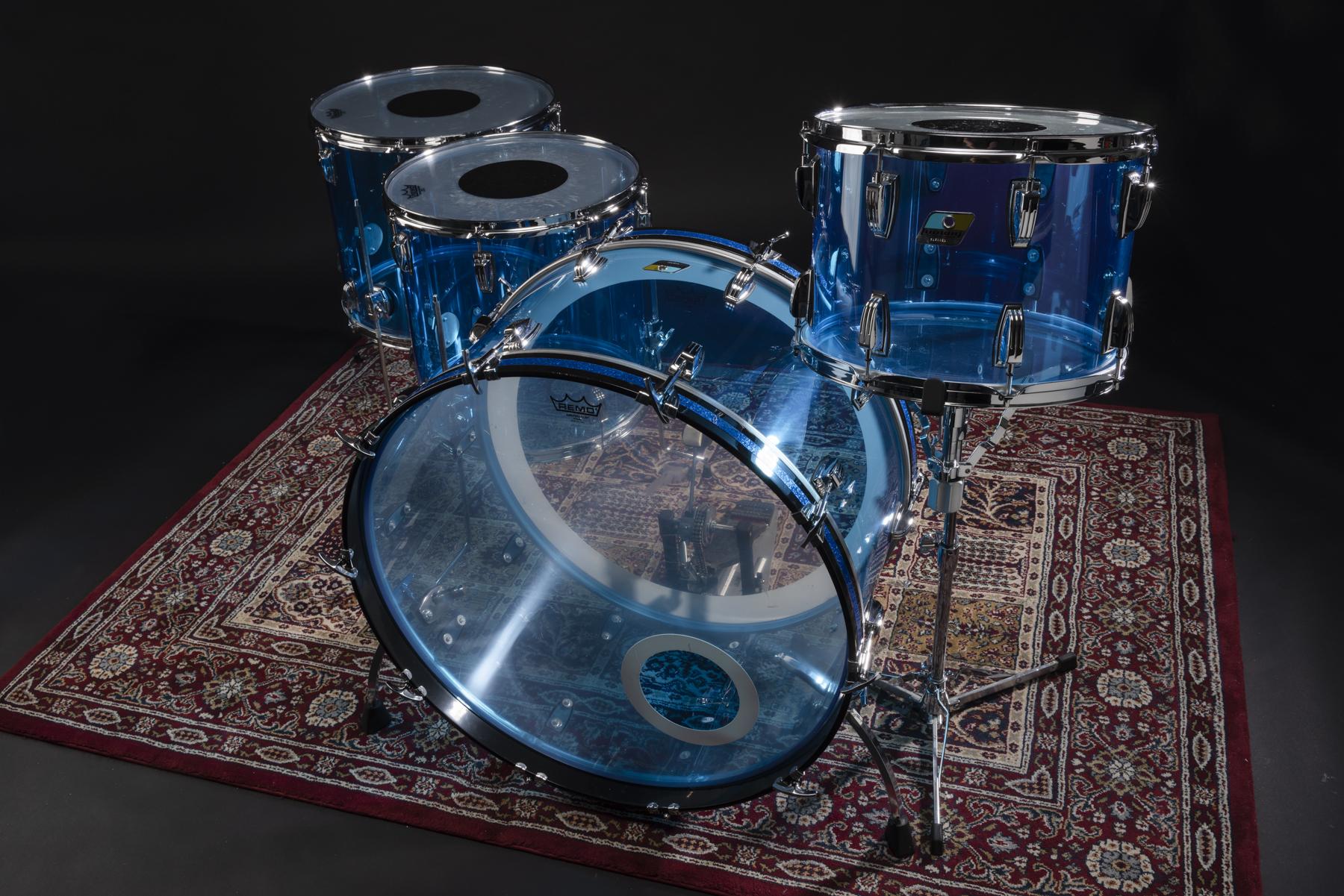 Ludwig Vistalite - Clear Blue -