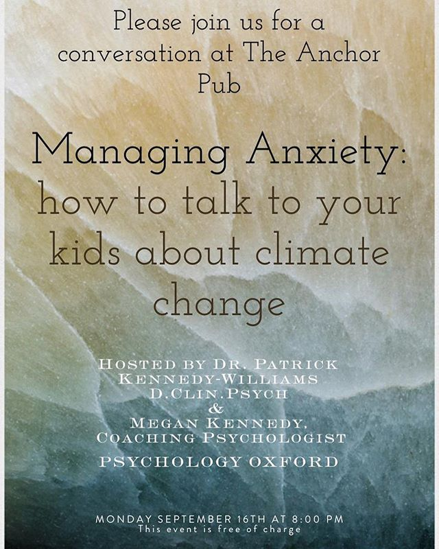 Had a fantastic evening @theanchor.pub @oxford_uk talking about managing #climateanxiety in children. More to come! #parentcoaching #climatepsychology