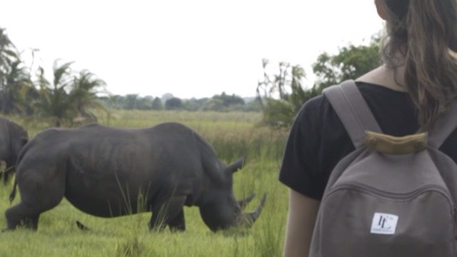 Luckily our @forbesandlewis backpacks were stuffed with waterproof jackets 🌧 It absolutely bucketed down as we wrapped this shoot.  The Ziwa Rhino Sanctuary 🦏 is the proud home of the only white rhinos in Uganda 🇺🇬 The @somethingventured_sv team were very fortunate to go rhino trekking with head ranger Opio and tell his story. Check it out on our website 🌍 www.something-ventured.com.  #gameranger #somethingventured #savetherhino