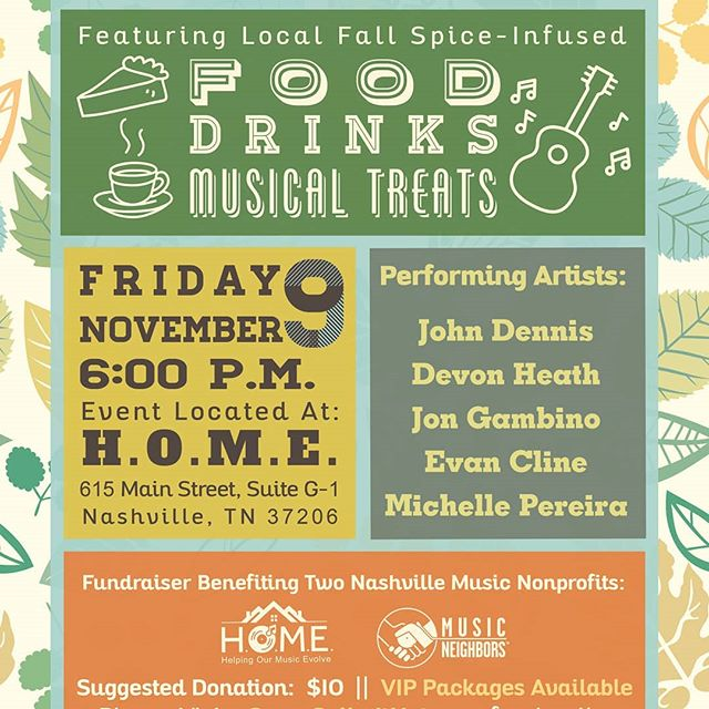 This Friday come out and support @helpingmusic and @musicneighbors. Two great assets in our creative community. Tickets at http://www.somespikeithot.com/  #nashville #nonprofit #music #creatives #fall