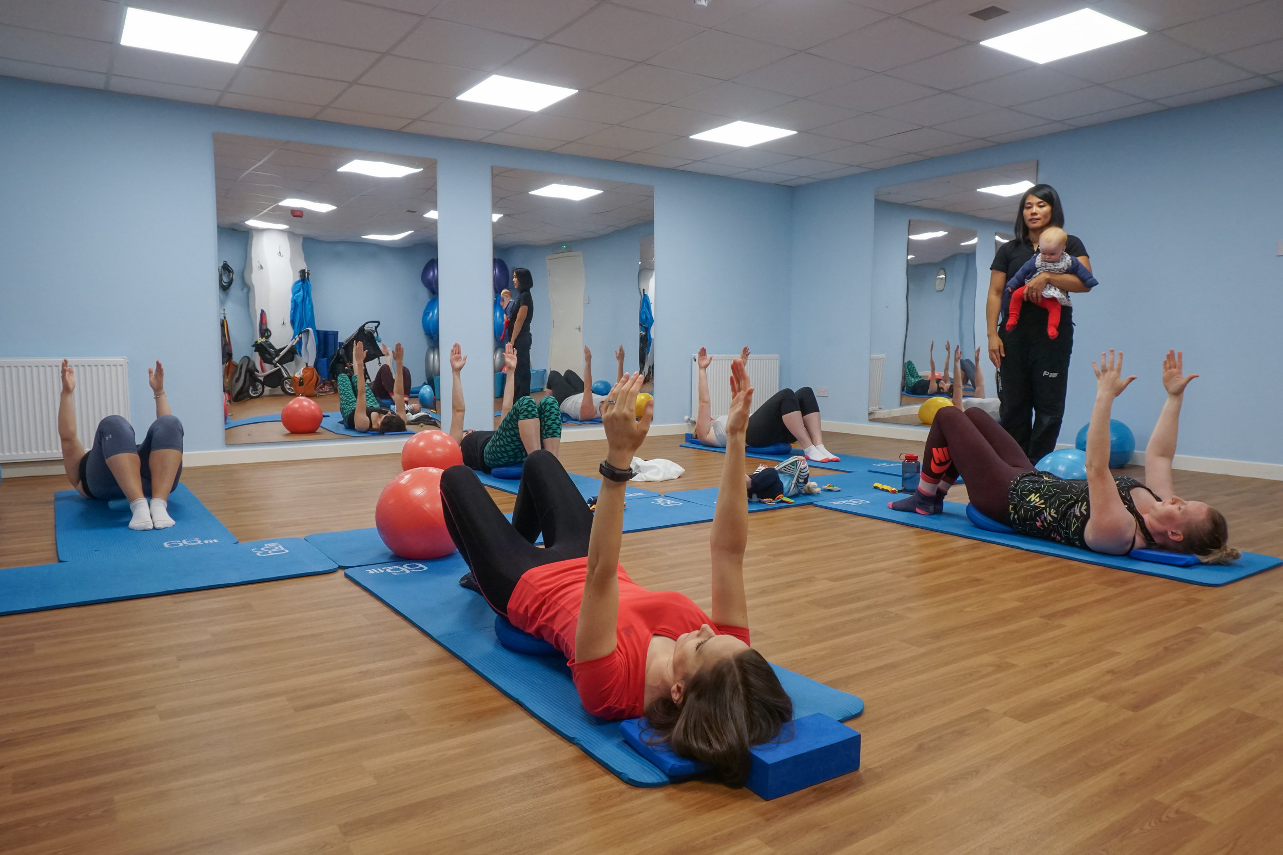 Cry Baby Mother and Baby Pilates Class at Physio Effect