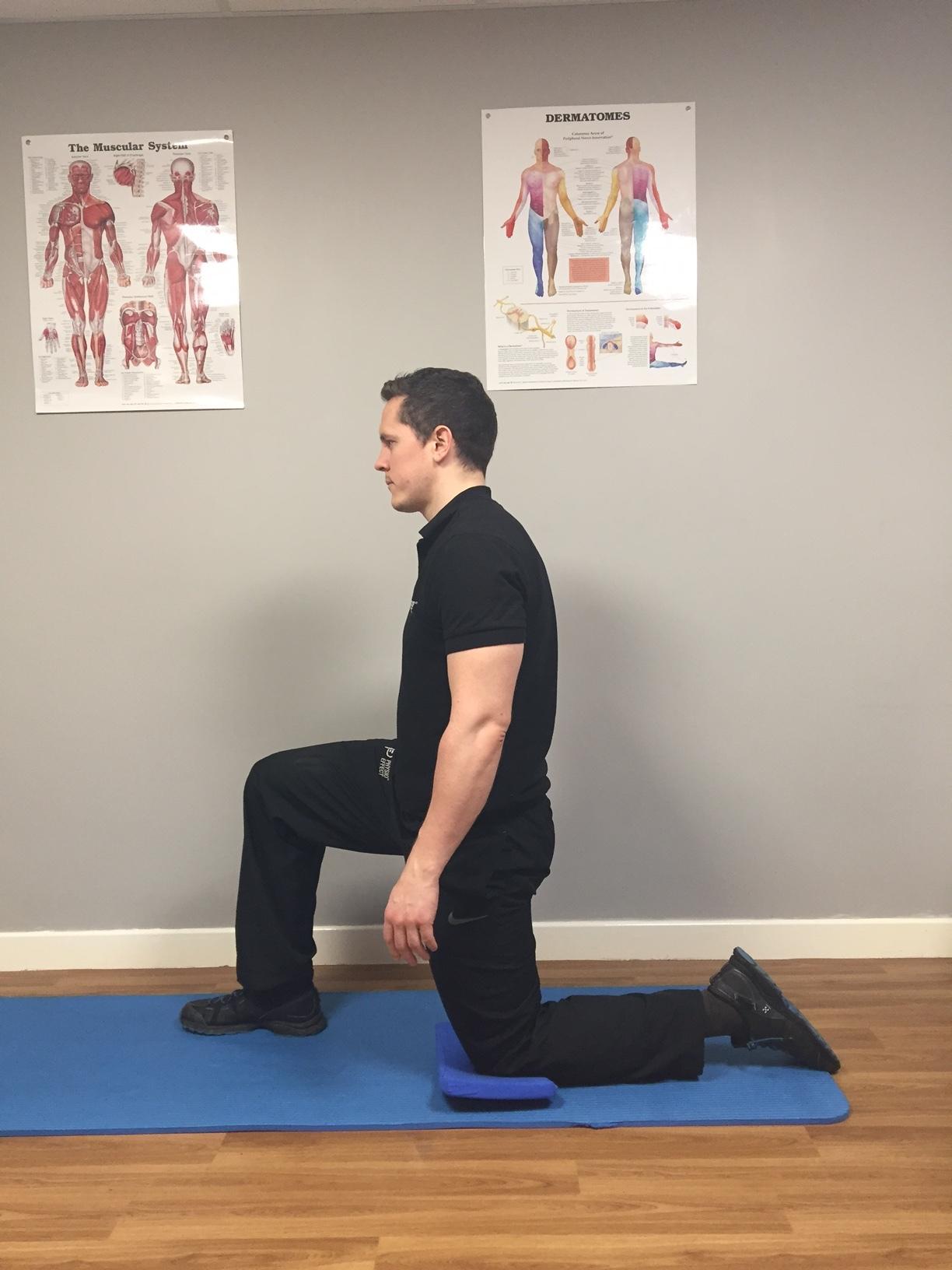 Hip Flexor Stretch Start Position