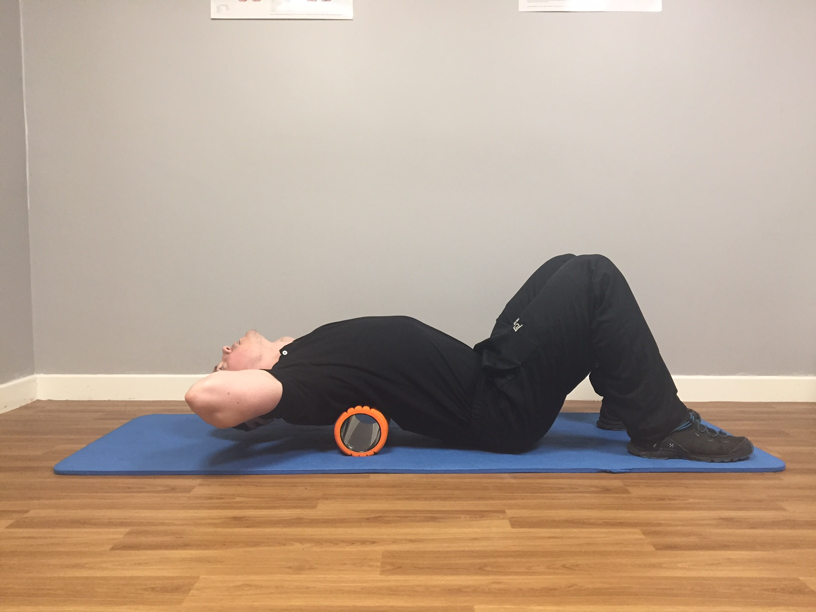 Thoracic Extension with Foam Roller Finish Position