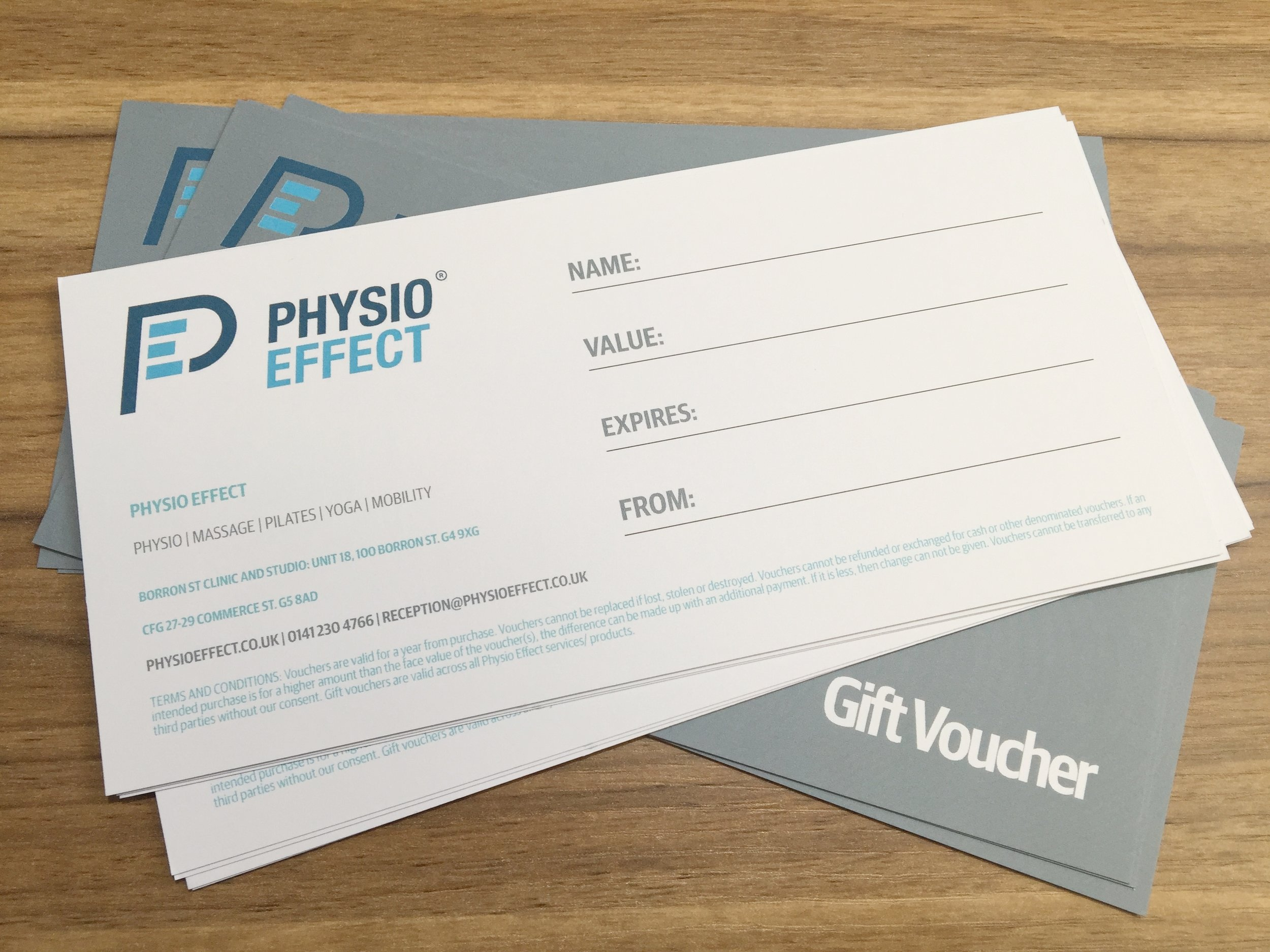 Gift Vouchers at Physio Effect Glasgow - Digital or Physical