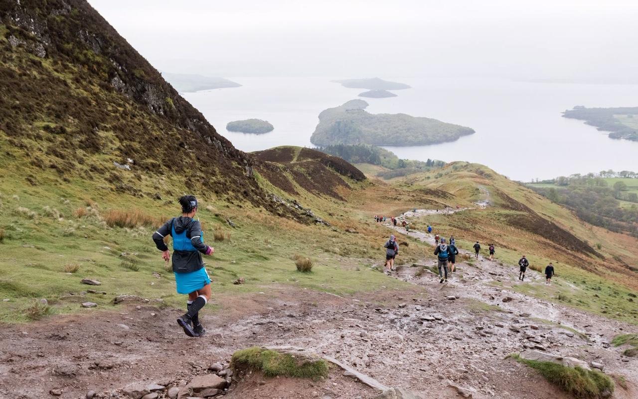 The views down to Loch Lomond