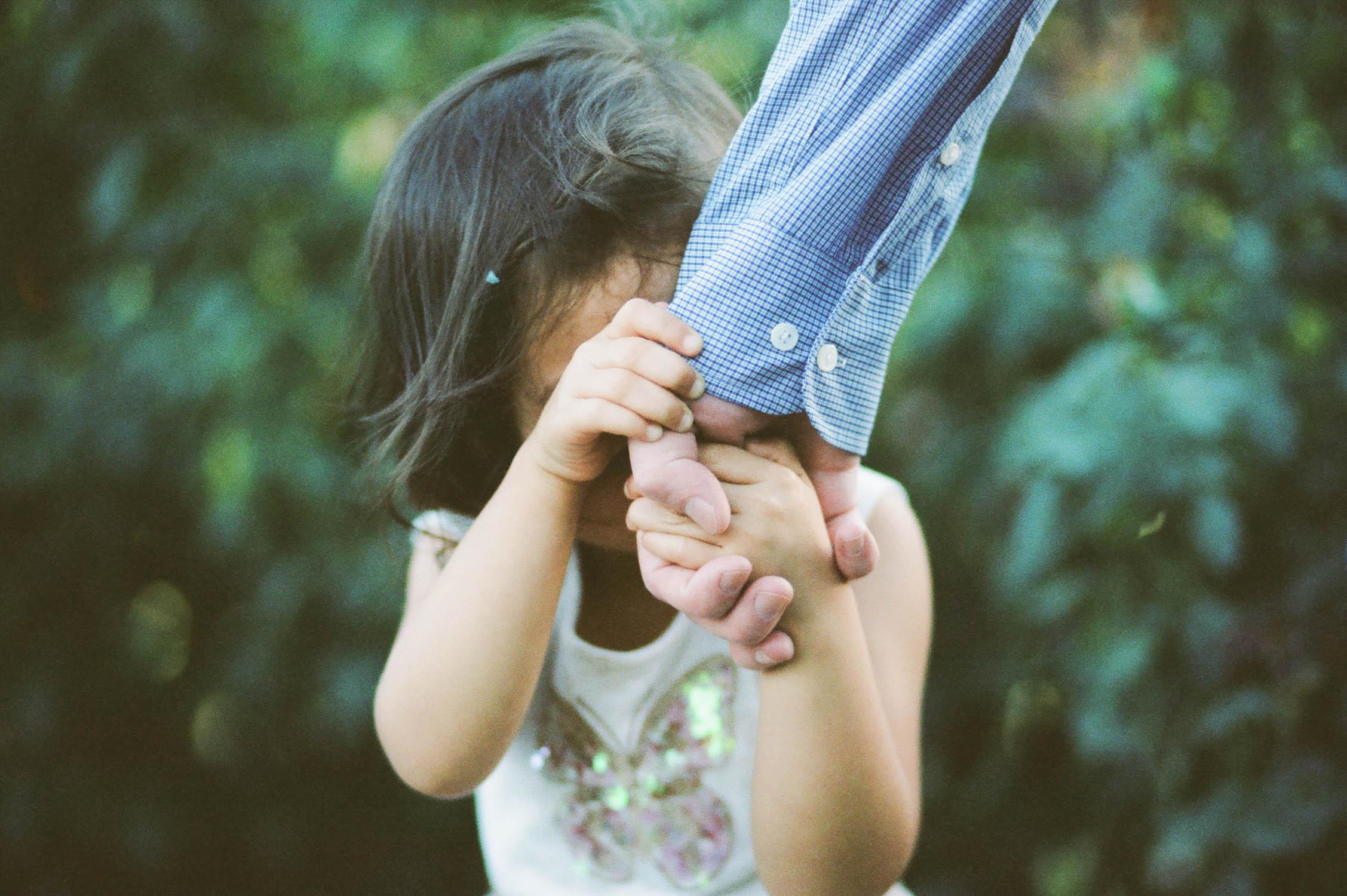 film photograph of toddler in Sacramento, CA