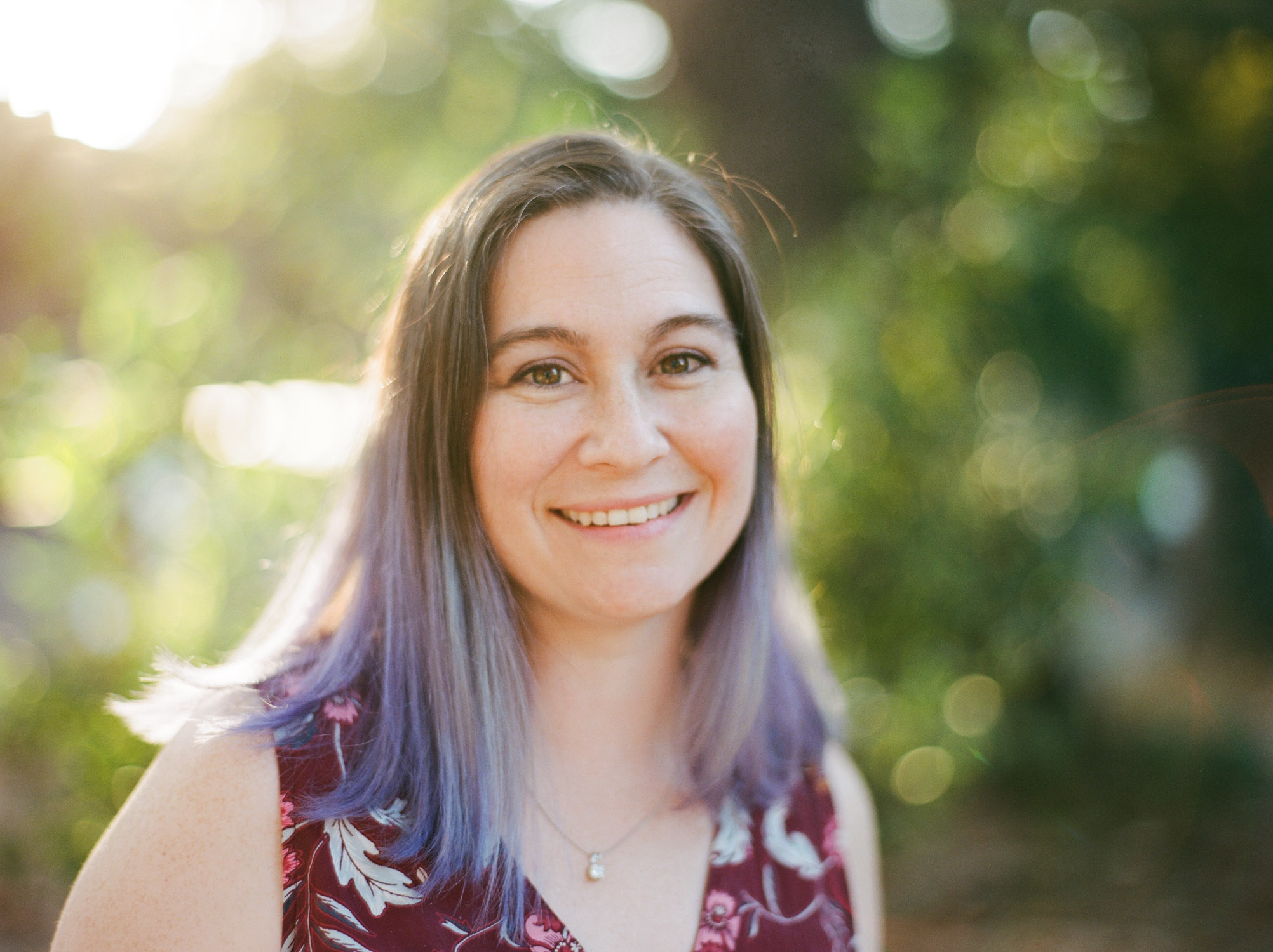 Portrait of Sarah on film in Sacramento by Rachel Sima Photography