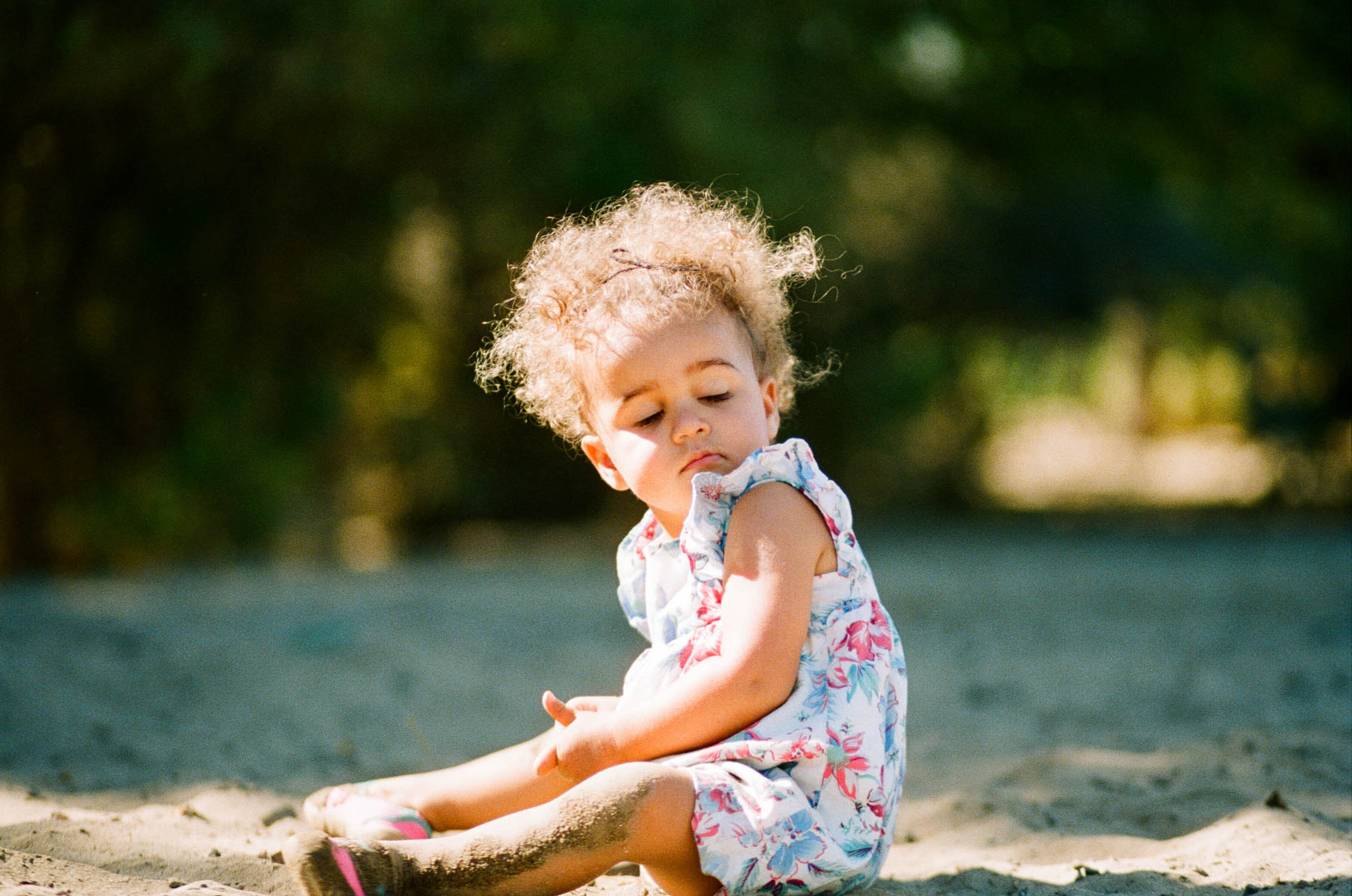 Portrait of toddler in Northern California on Film Rachel Sima Photography