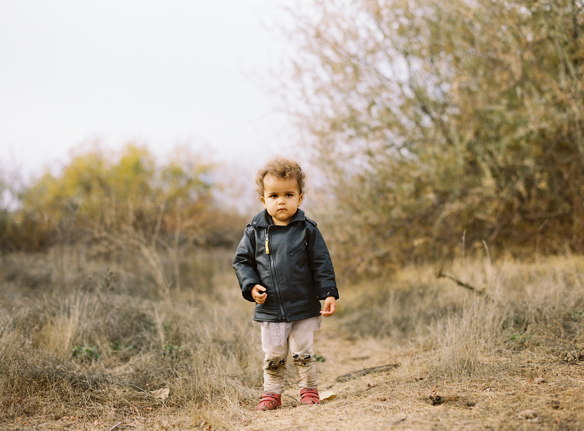film family photograph of toddler girl by Rachel Sima Photography at Paradise Beach Sacramento CA