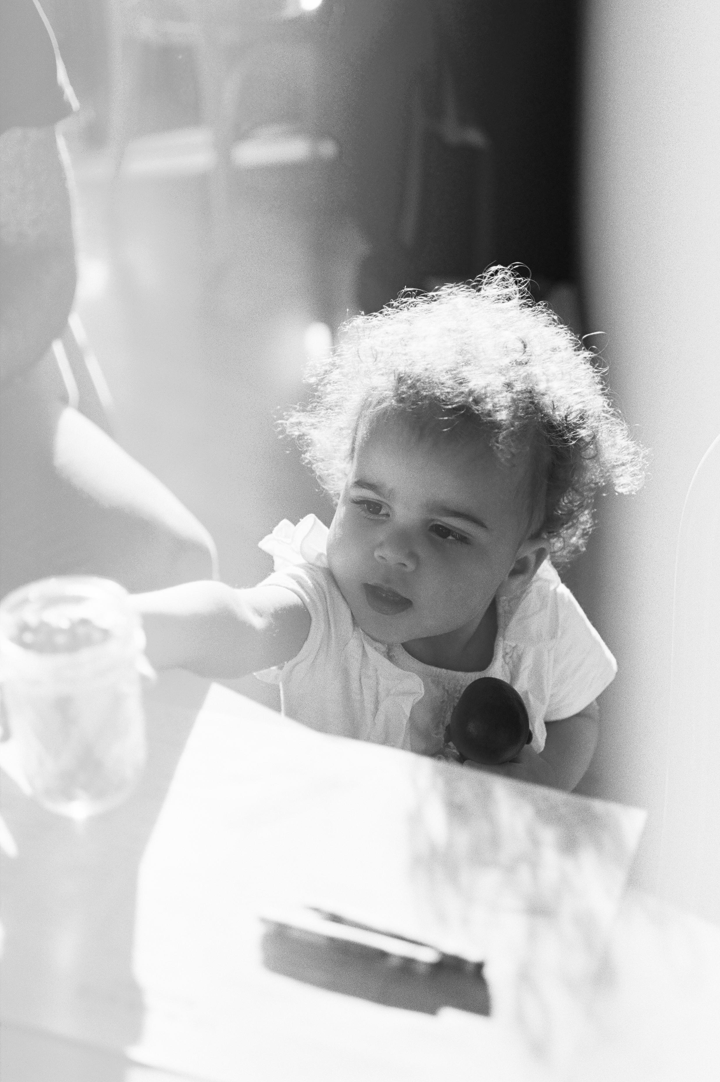 toddler in cafe in San Francisco