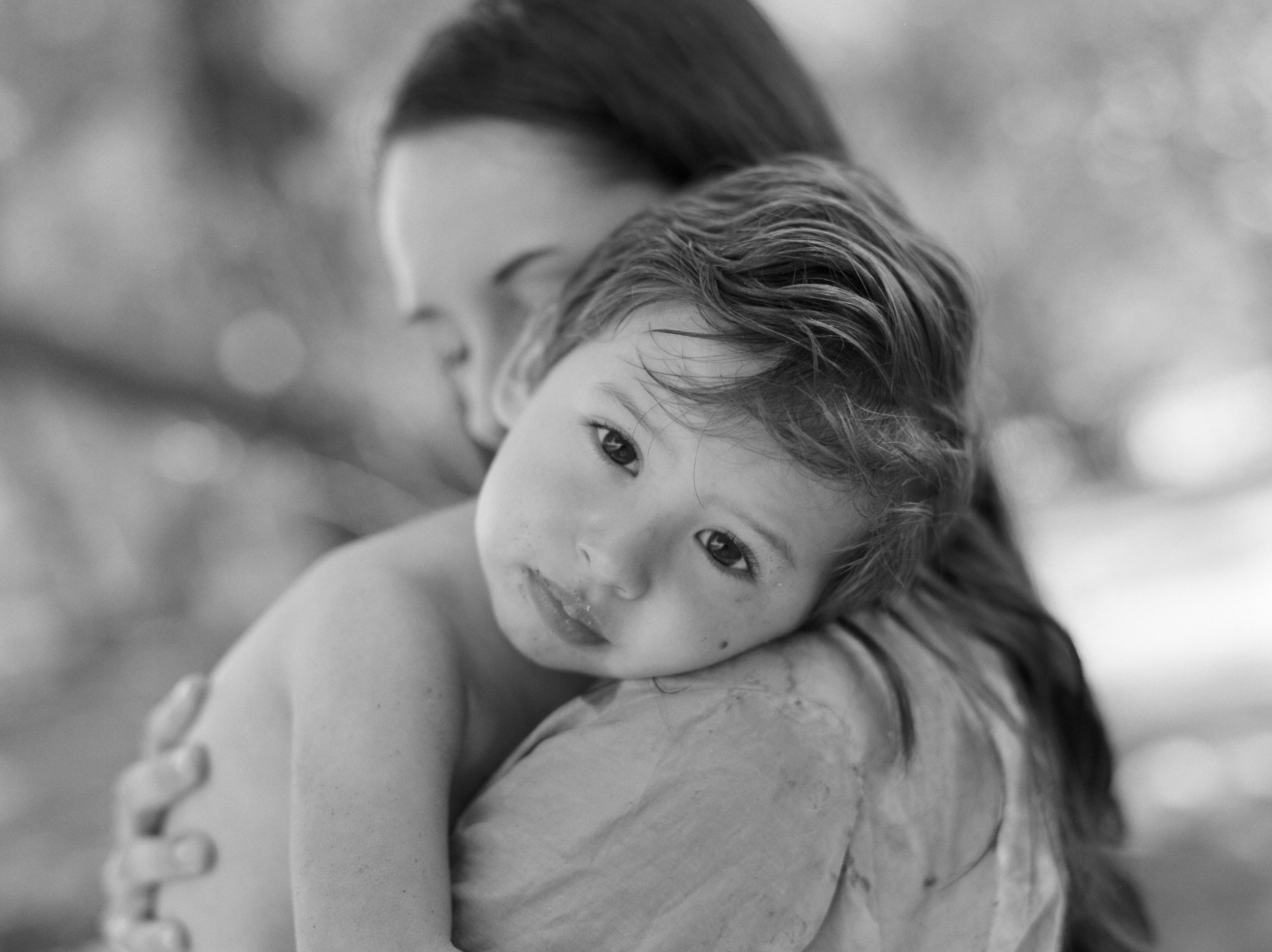 Mommy & Me Portrait by Sacramento based film photographer Rachel Sima Photography