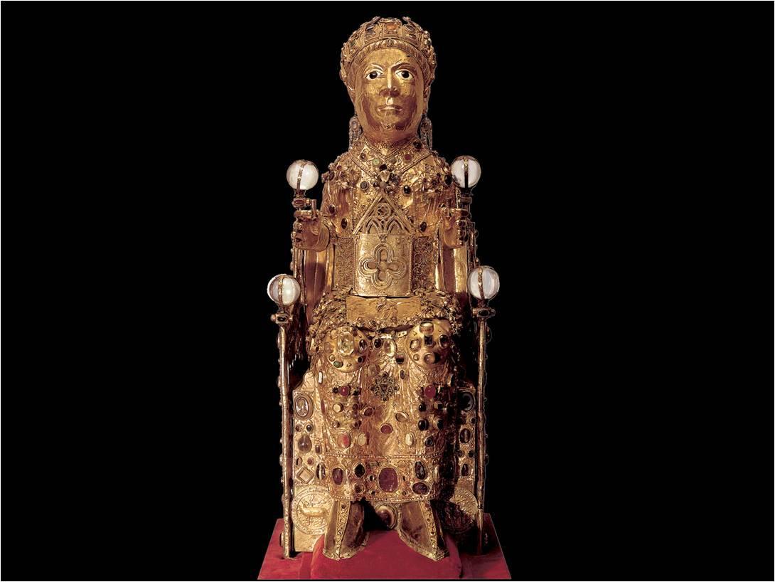 St. Foy in Majesty. c. 980. Location: Conques, Trésor de l'abbatiale Sainte-Foy de Conques. Wikimedia Commons.