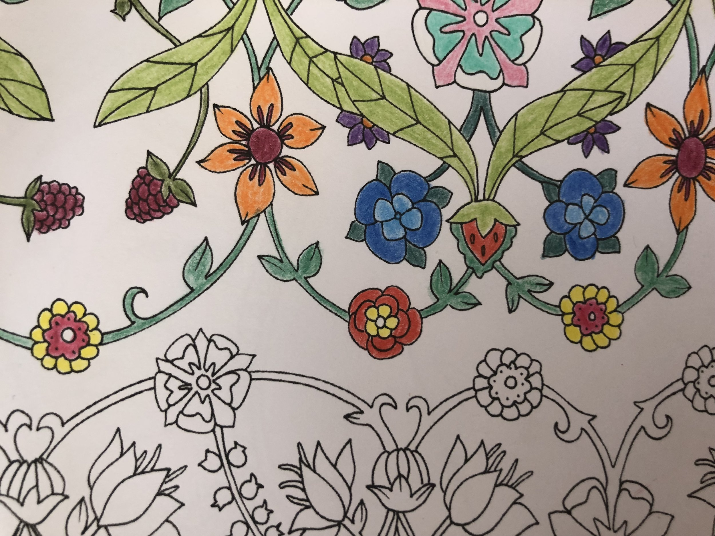 Tudor flower design that was inspired by a 16th century embroidery pattern. Photo: The Medieval Magazine.