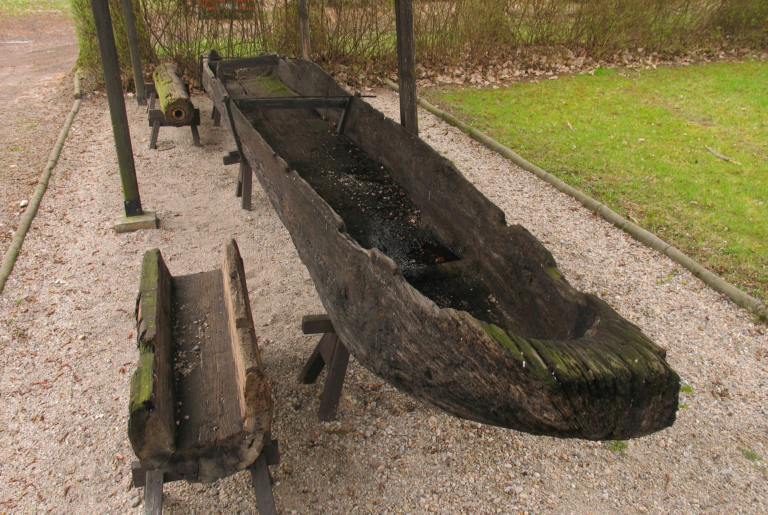 Monoxyla. A 10th century monoxyla boat found in the Oder river in Poland. It is currently in the Świdnica museum near Zielona Góra, Poland. ©Mohylek, via Wikimedia Commons