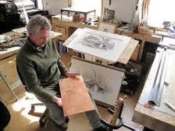 Franc van Oort in his studio