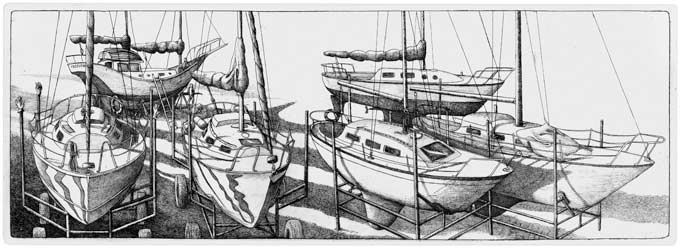 Sailboats in a Dry Dock (2008)