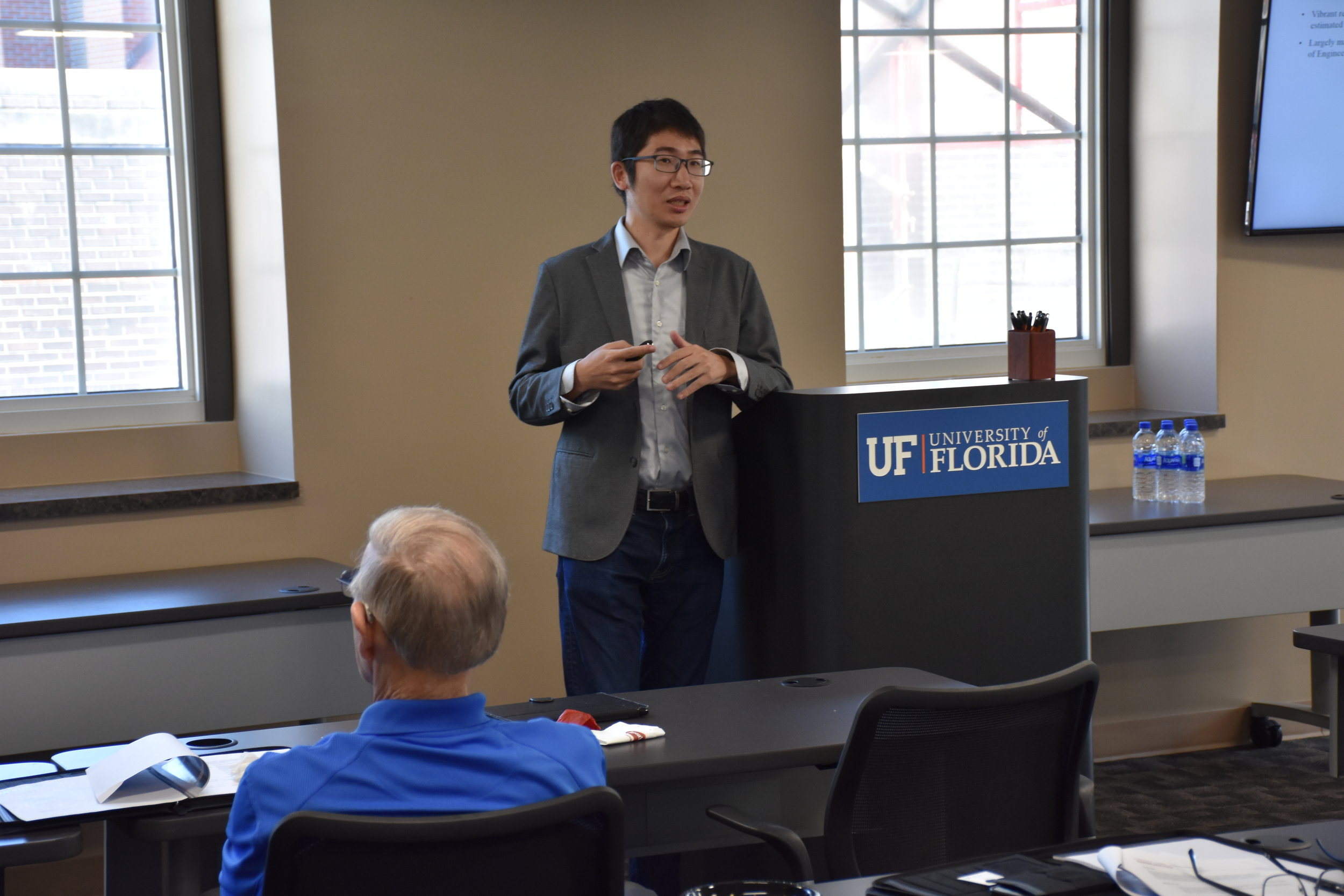 PhD Student, David Ma presents his work with data collection and analysis of Tripadvisor review data.