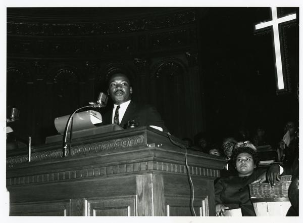 Dr. King at Cory United Methodist Church in the spring of 1963, just after being released from the Birmingham jail