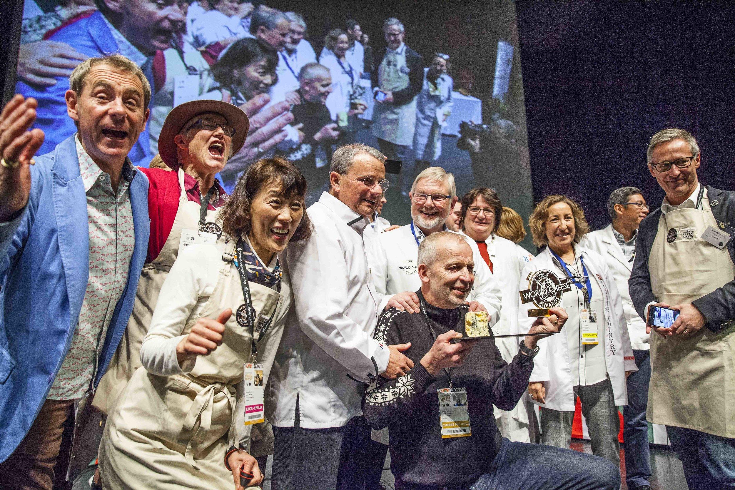 with the WCA Super Panel, celebrating in San Sebastian in 2016