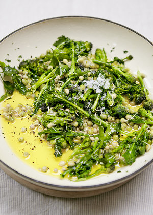 Warm Salad of Sprouted Peas & Sprouting Broccoli - By Nick Barnard from Eat Right (Kyle Books)