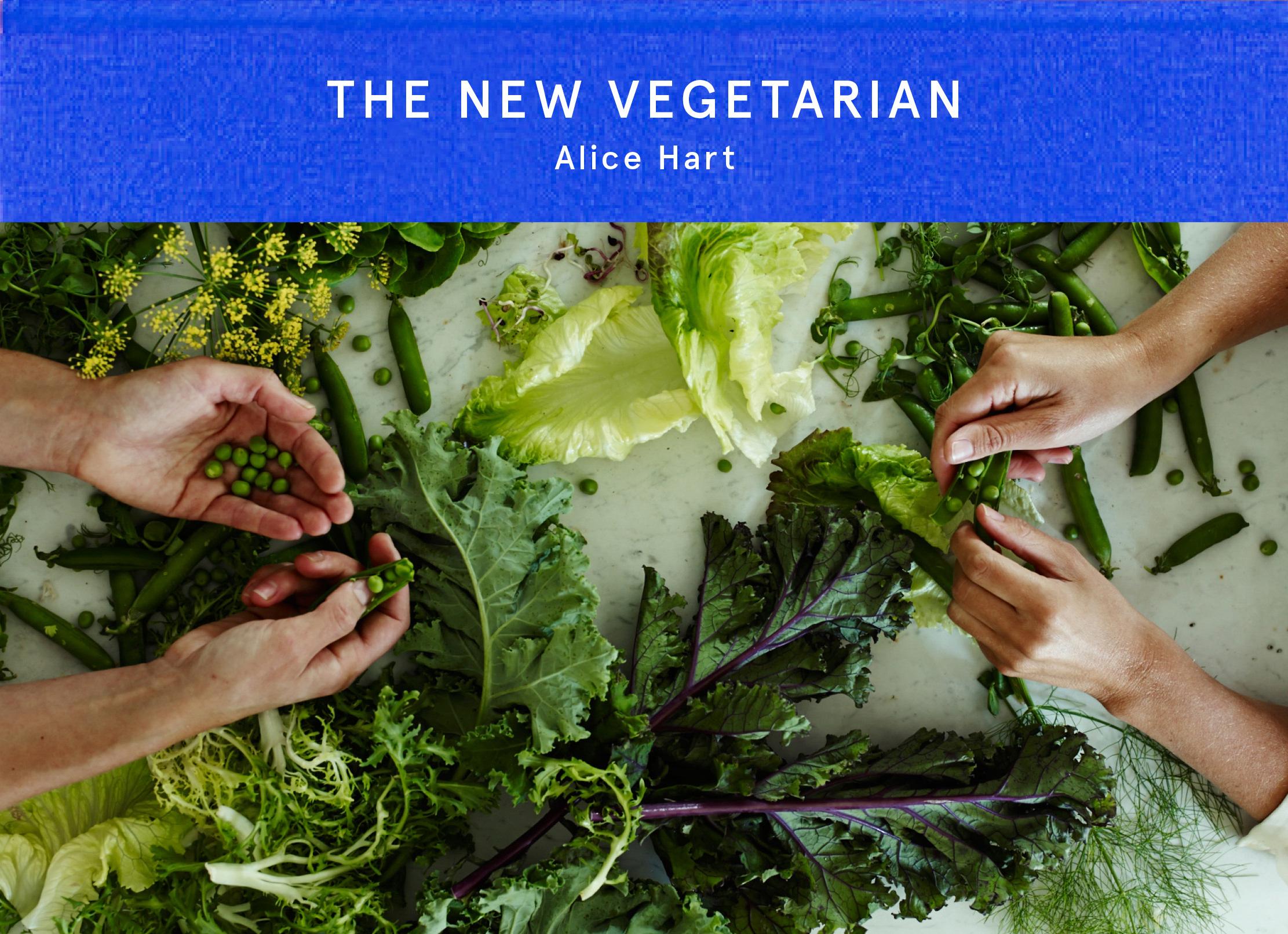 Penne with Asparagus Pesto & White Beans - by Alice Hart fromThe New Vegetarian (Square Peg / Penguin Random House)