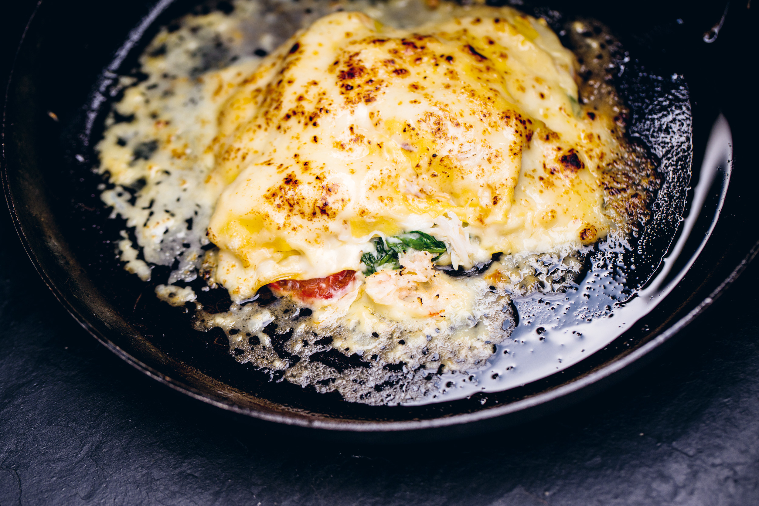 Crab Lasagne - by Galton Blackiston from Hook Line Sinker – A seafood cookbook (Face Publications)photography John Scott Blackwell