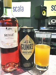 Nigel's alcoholic & non-alcoholic beverages tasted alongside the dish. Frithsden Rosé & Gunrz