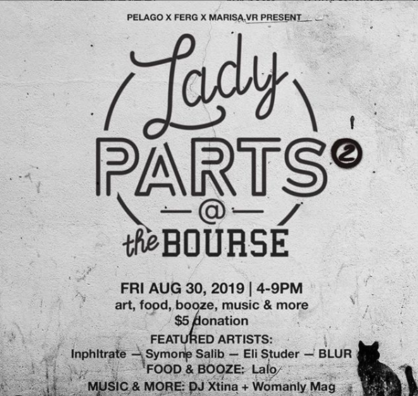 Kick off your Labor Day Weekend with round 2 of yer fave fundraiser party! Wait out shore traffic, pregame Made in America, or just come hang out cuz you love us  ... Friday, August 30 4-9 pm 5th St Patio at The Bourse *artsy things+dancey things+yummy things+lady things *all ages welcome *$5 suggested donation at the door