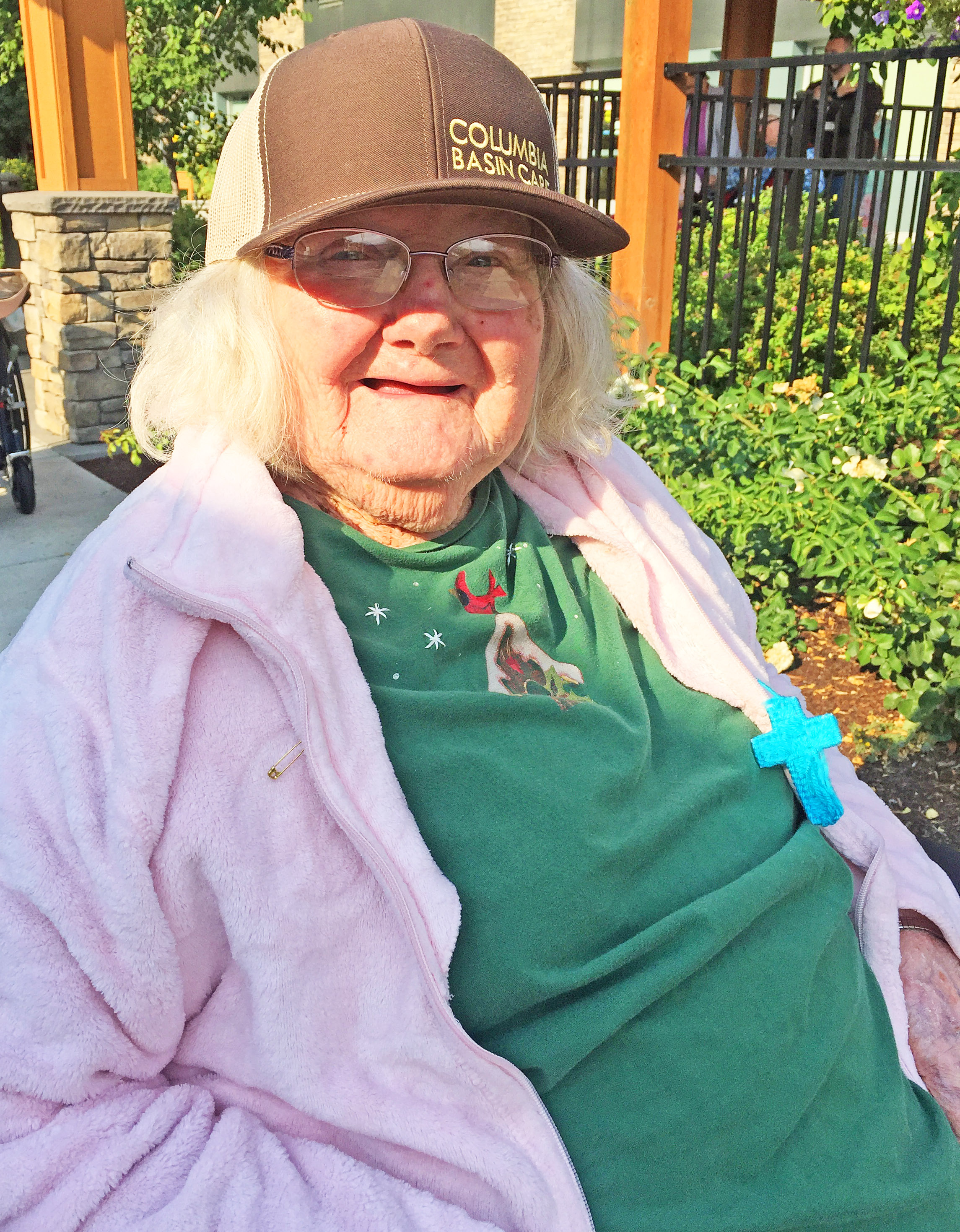 Laura Ashbrenner, 105, lives at Columbia Basin Care, where she still draws and paints.