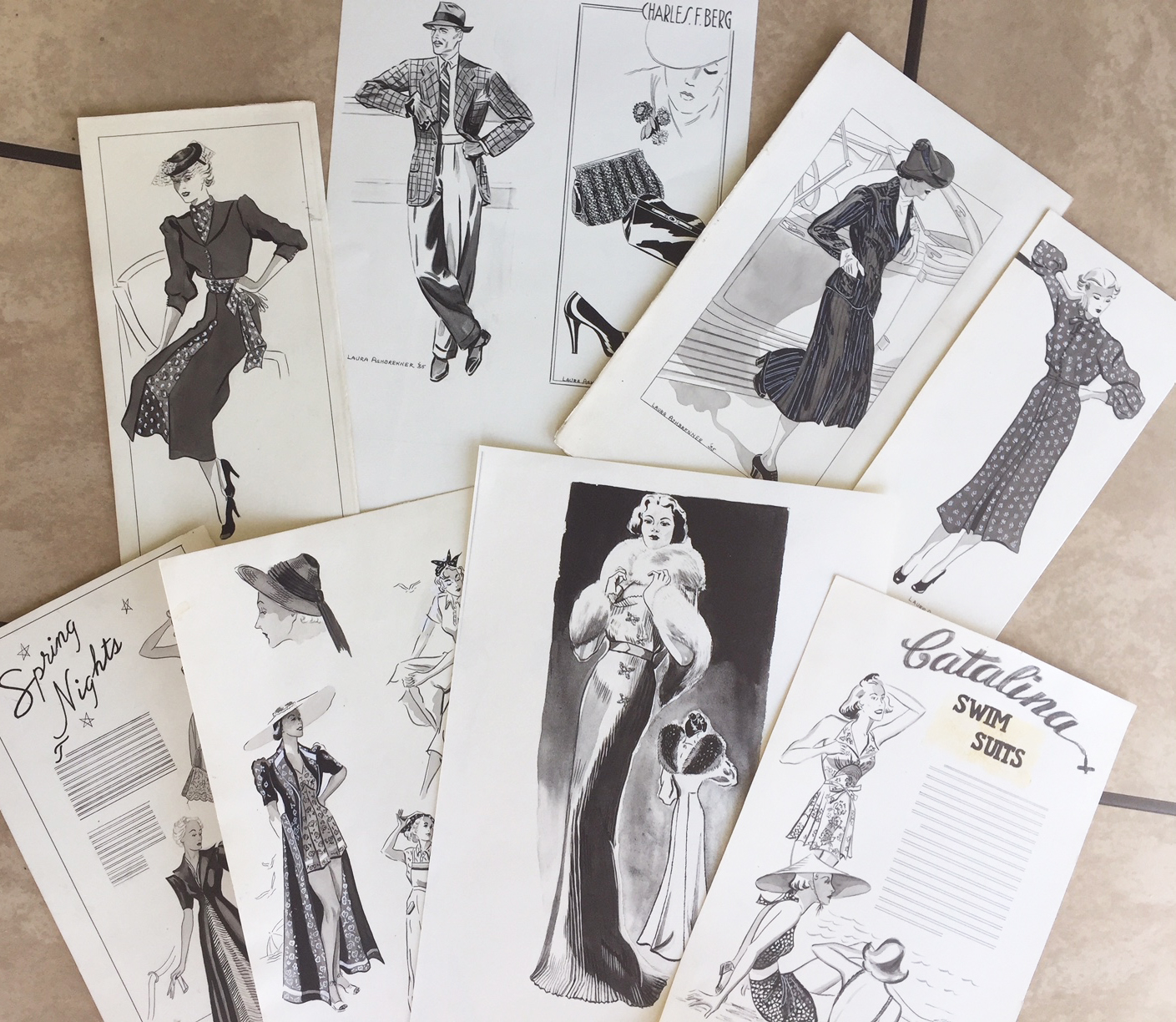 Laura worked as a professional artist and fashion illustrator for top Portland department stores.