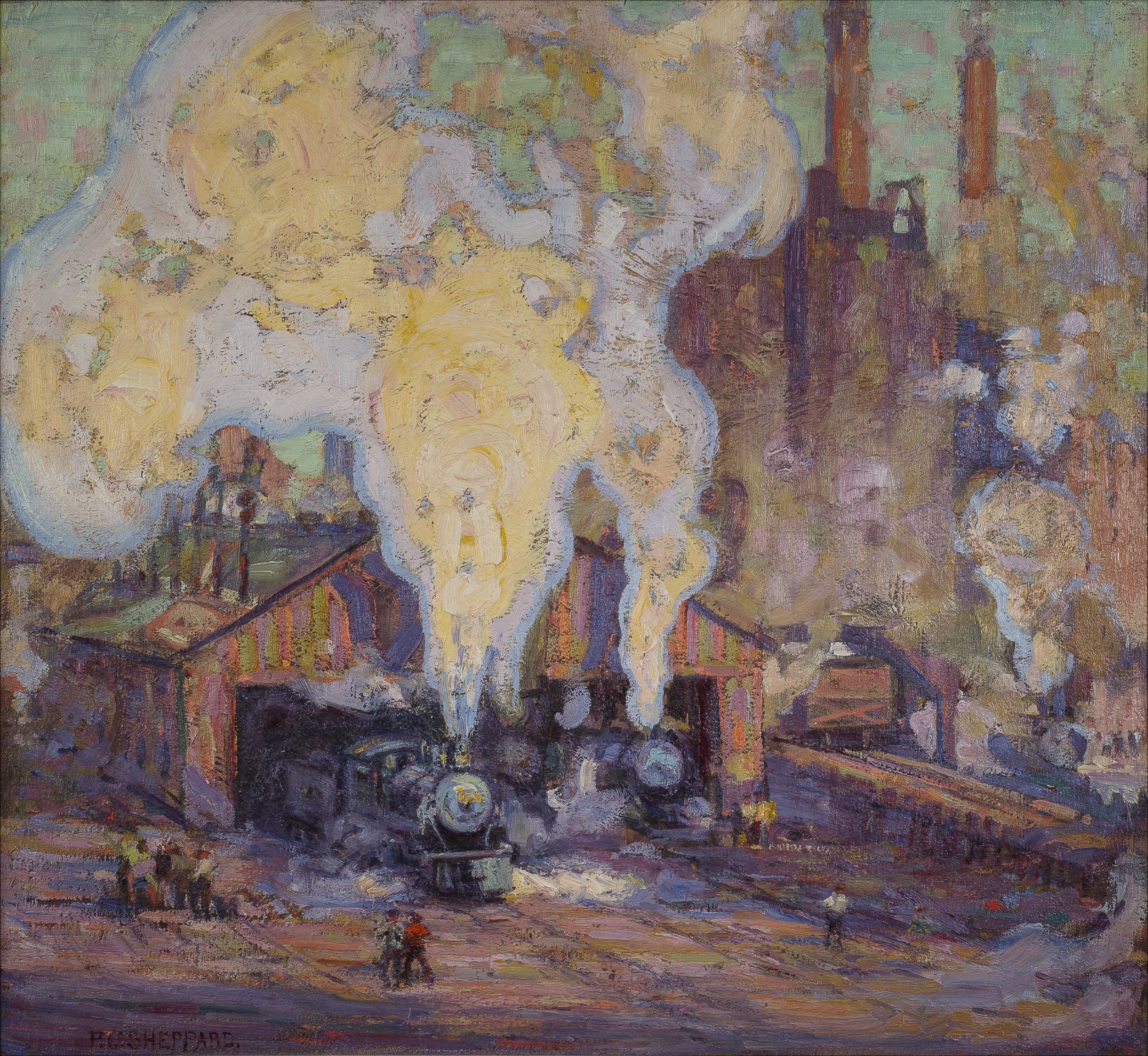 Peter Clapham Sheppard, The Engine Home , c. 1919