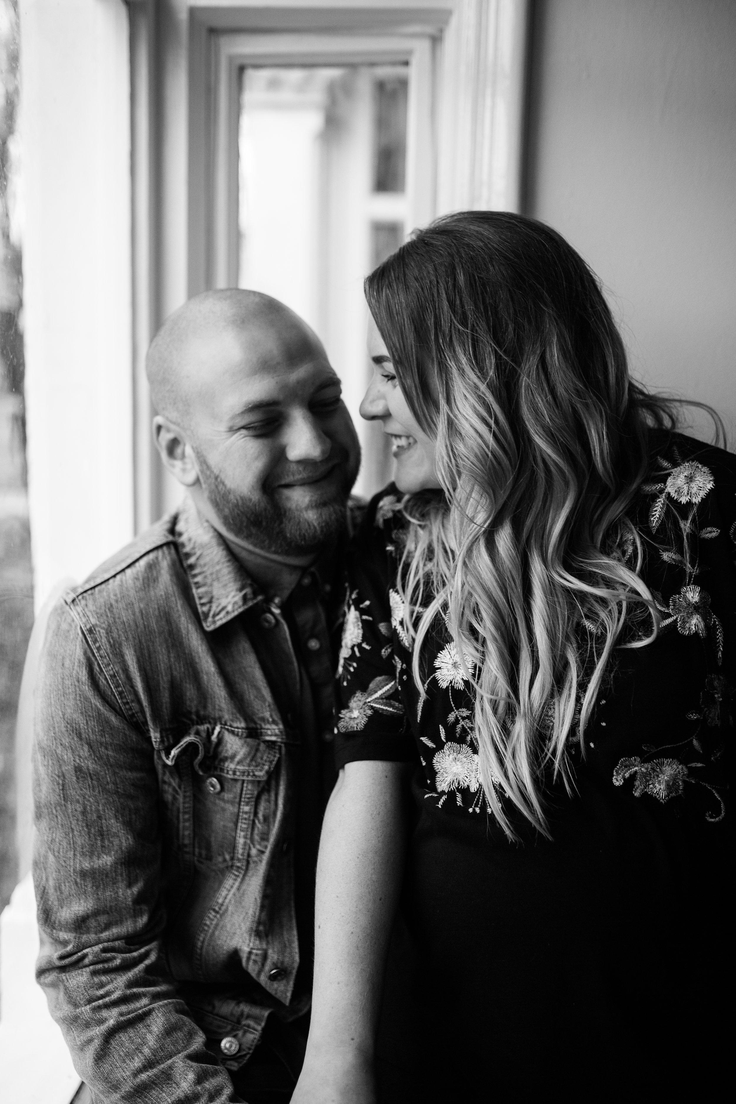 """me + jay when I was 39 weeks pregnant.. he looks happy; but really on the inside he's screaming """"get off me you fat bastard!""""… beautifully captured for us by emma case"""