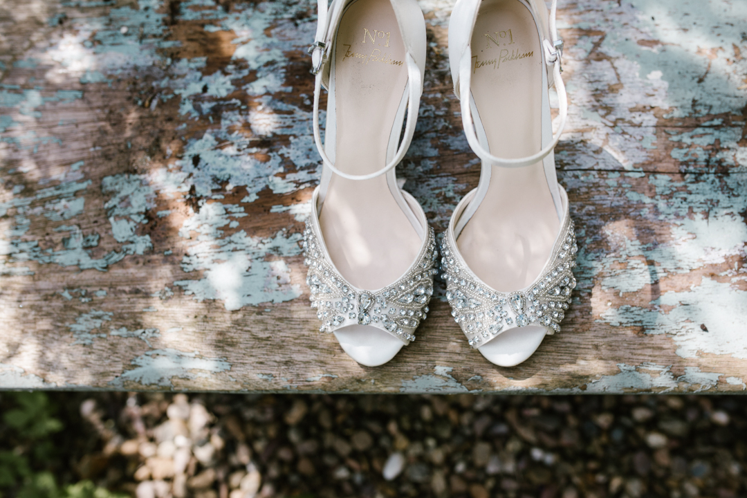 Jenny Packham jewelled wedding shoes