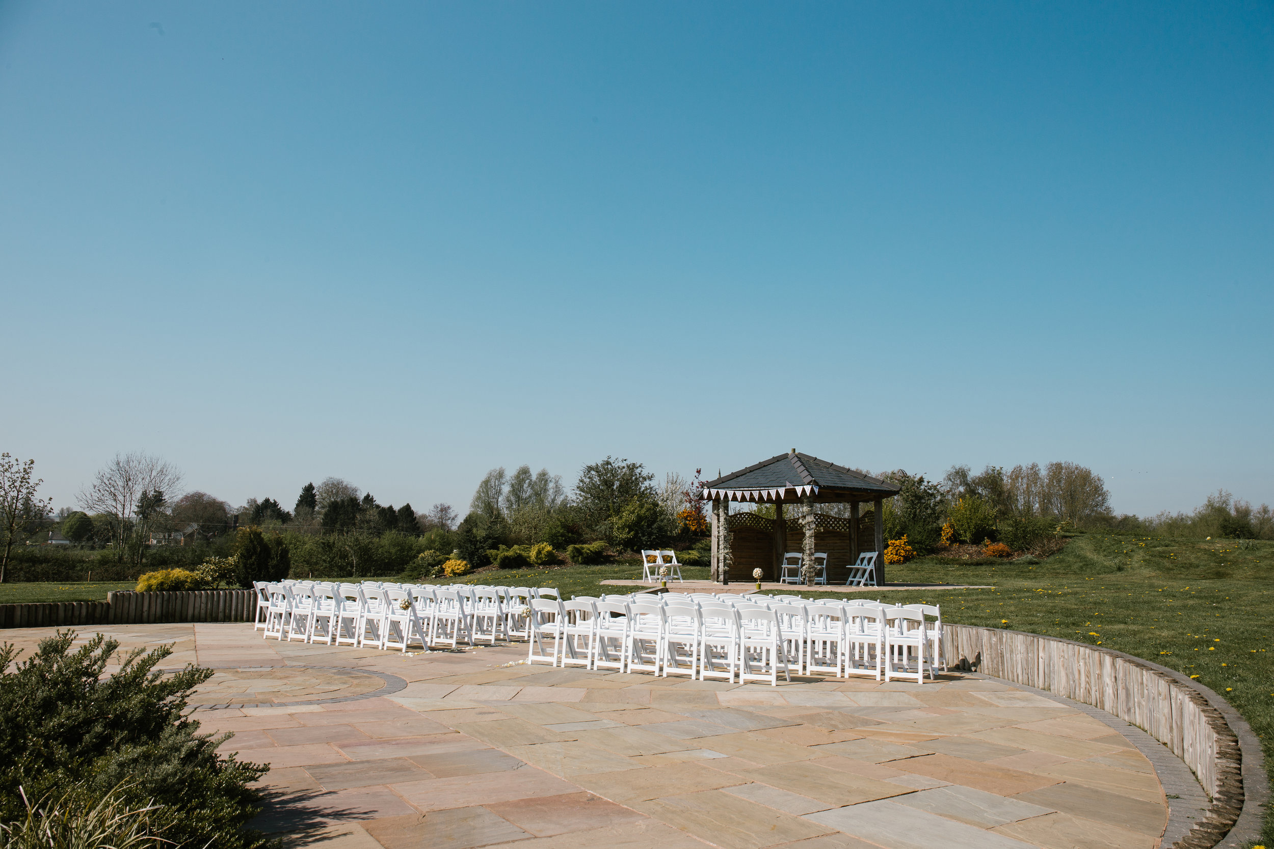 Outdoor wedding at the boat house wedding venue at aston marina in staffordshire
