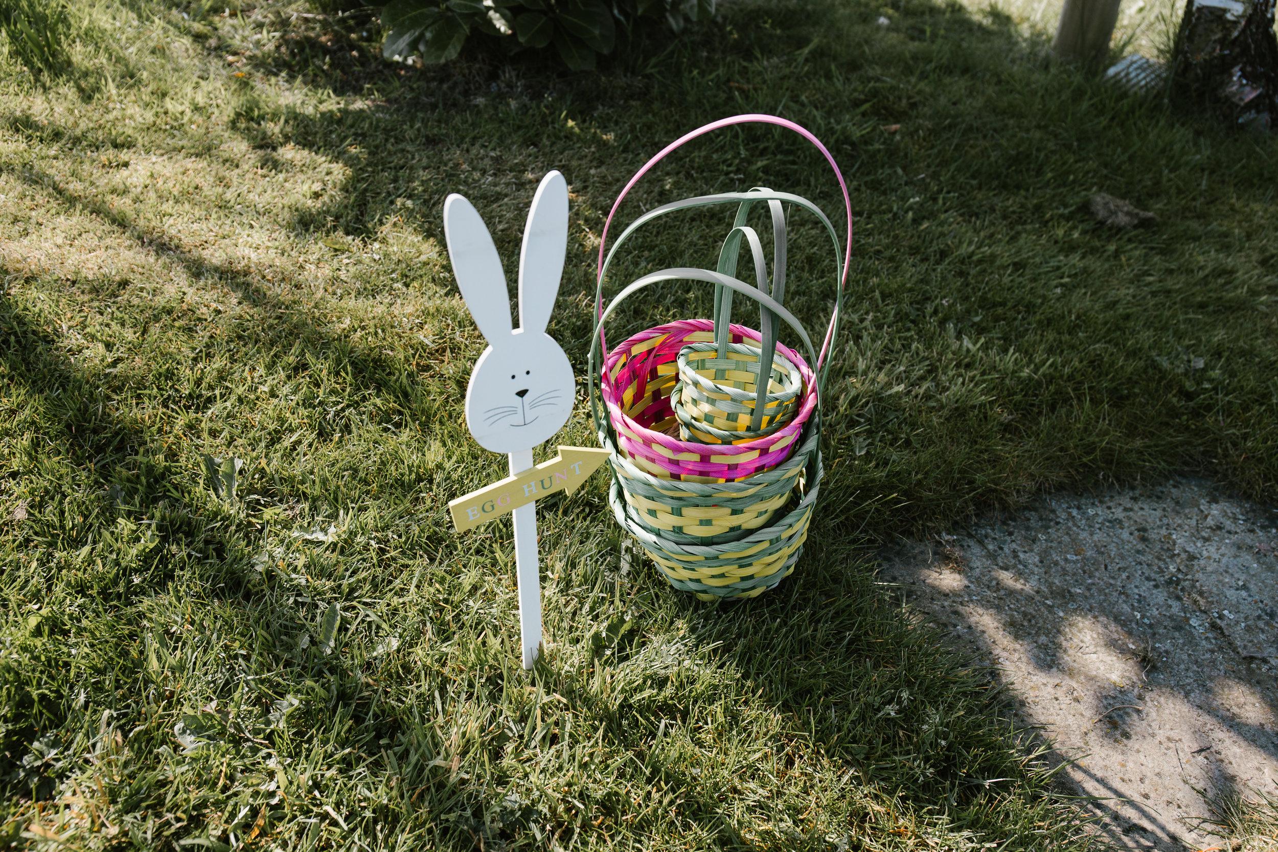 easter egg hunt for children at a wedding