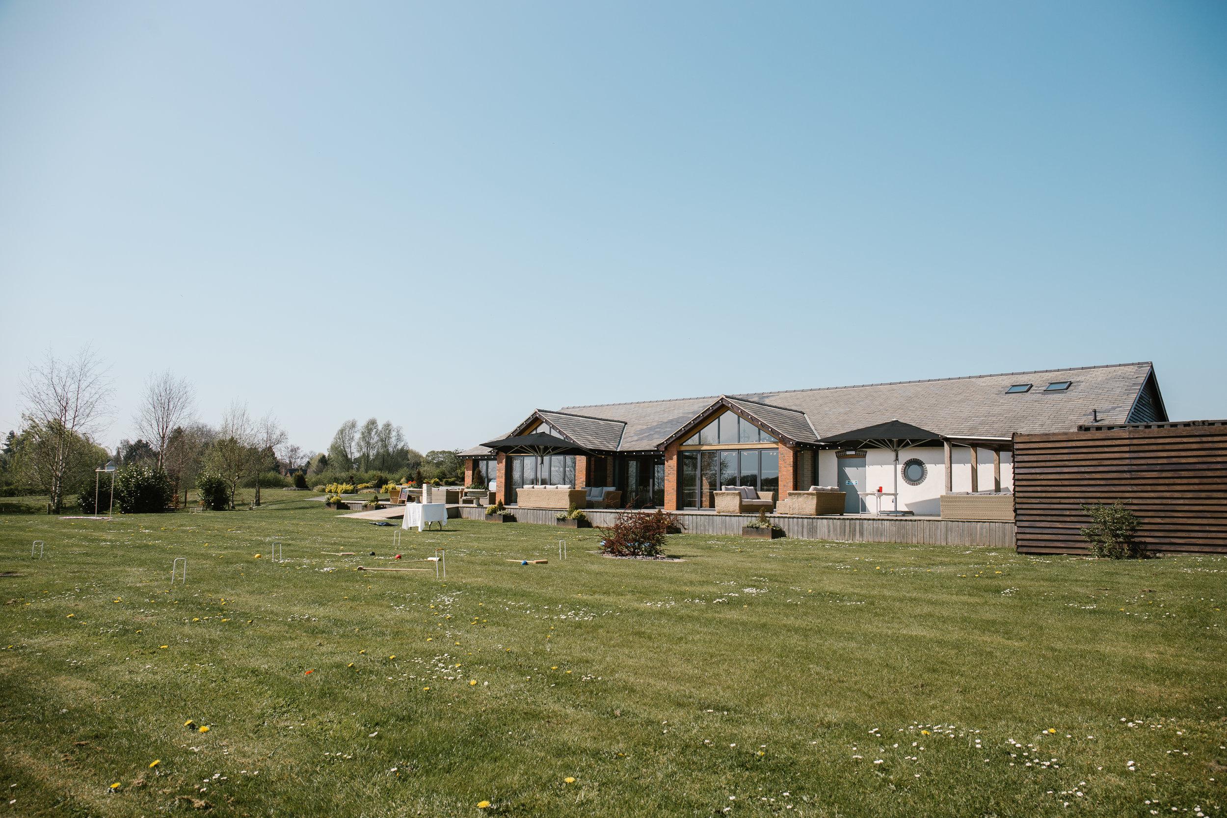 The boat house at Aston marina wedding venue