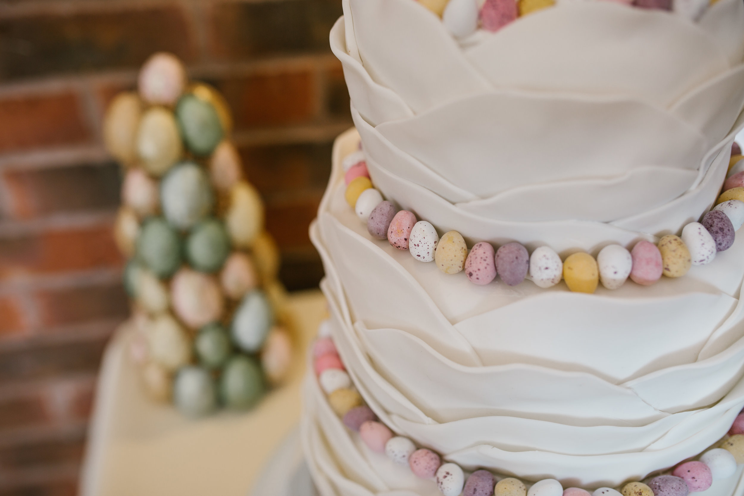mini egg wedding cake