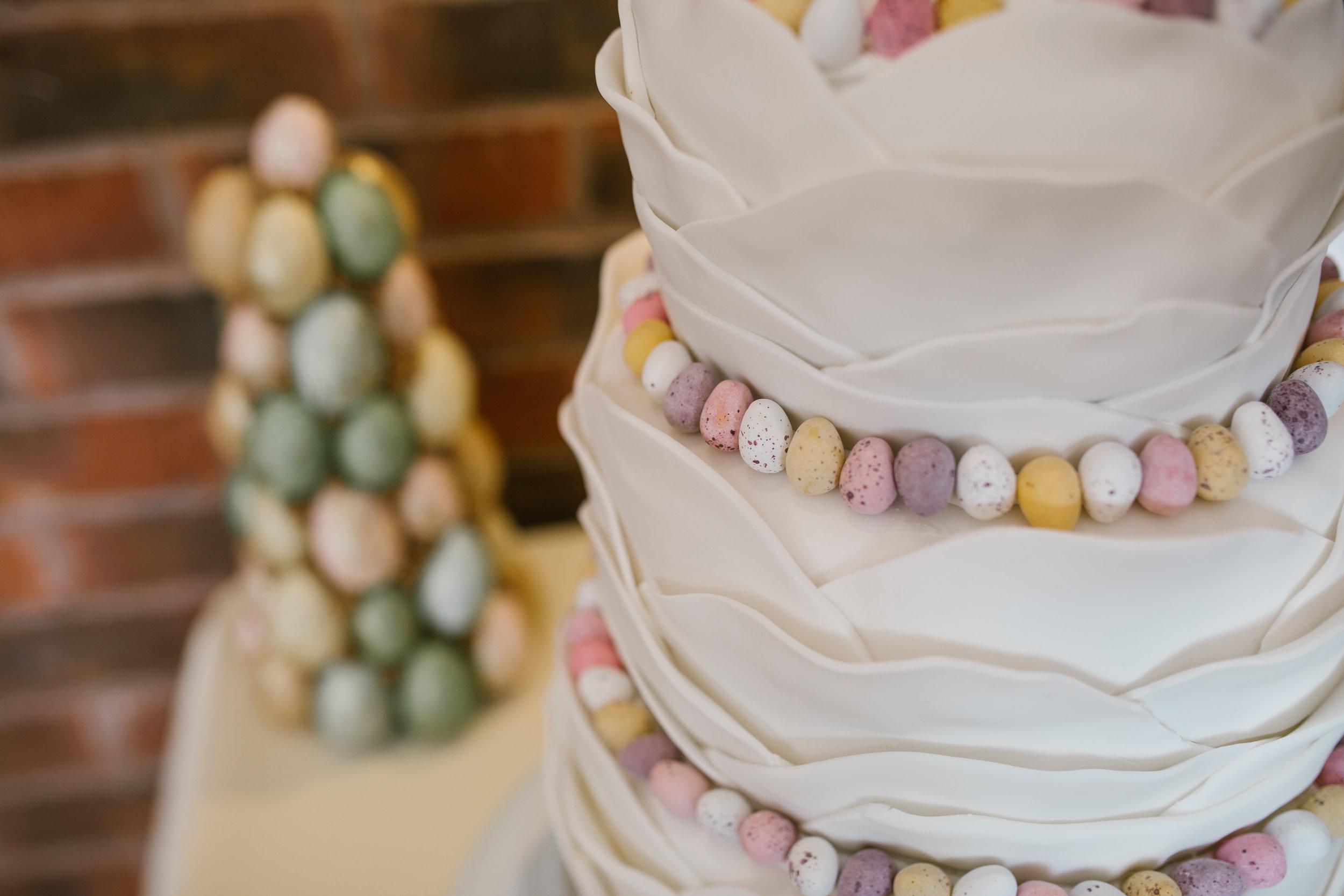 mini egg wedding cake